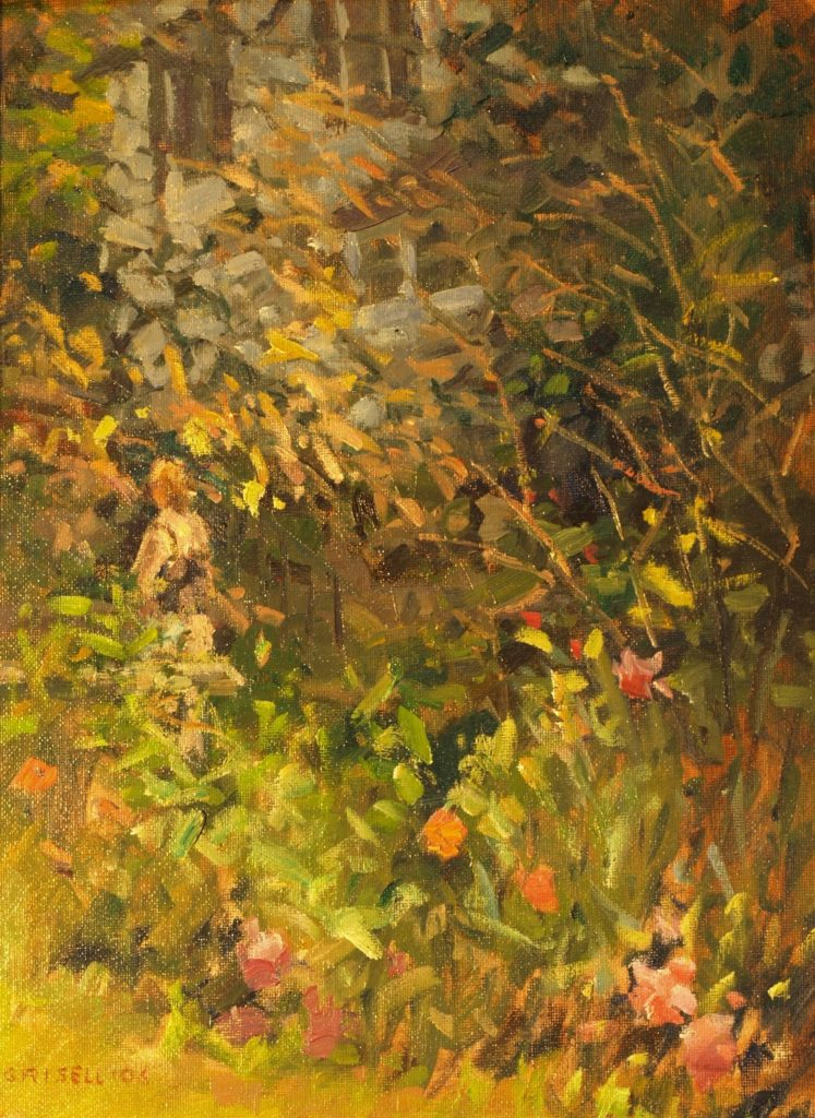 Spring Garden, Oil on Canvas on Panel, 16 x 12 Inches, by Susan Grisell, $300
