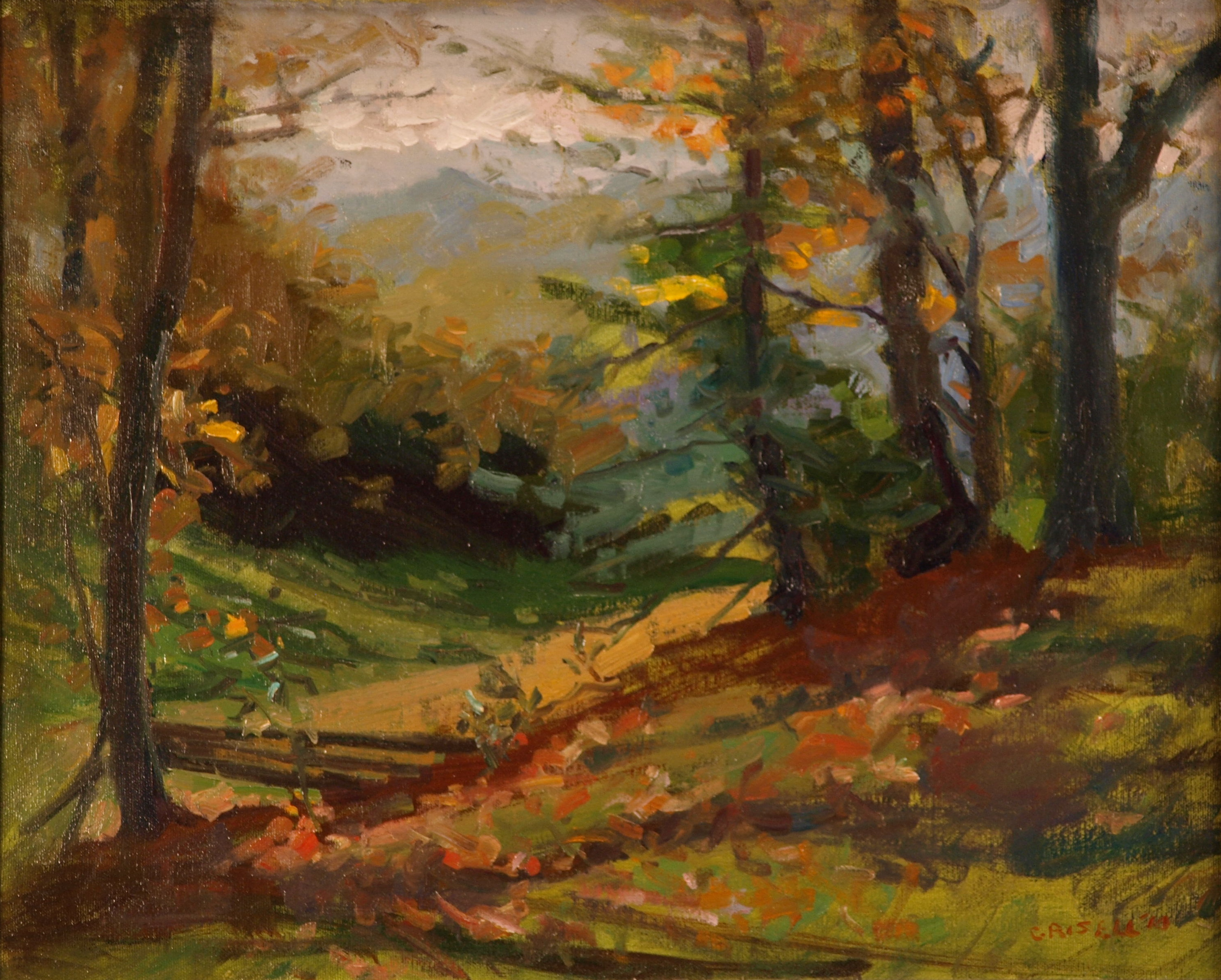 Appalachian Landscape, Oil on Canvas, 16 x 20 Inches, by Susan Grisell, $450