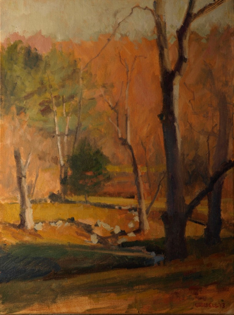 Willows, Oil on Canvas, 24 x 18 Inches, by Susan Grisell, $650
