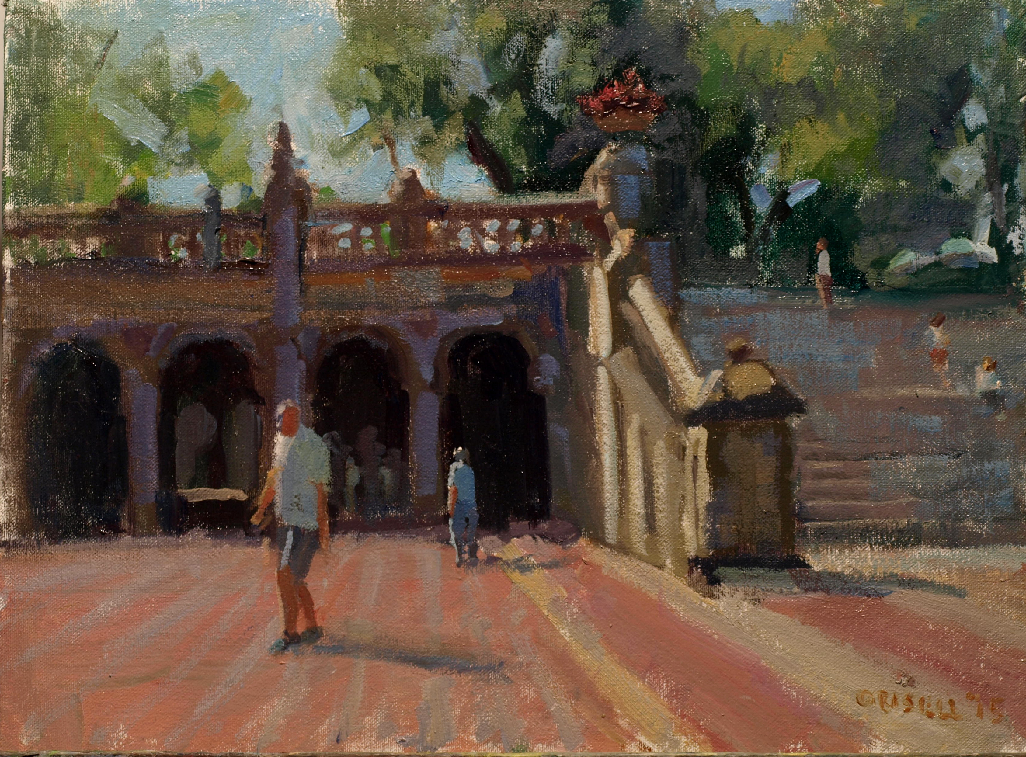 In Central Park, Oil on Canvas on Panel, 12 x 16 Inches, by Susan Grisell, $300
