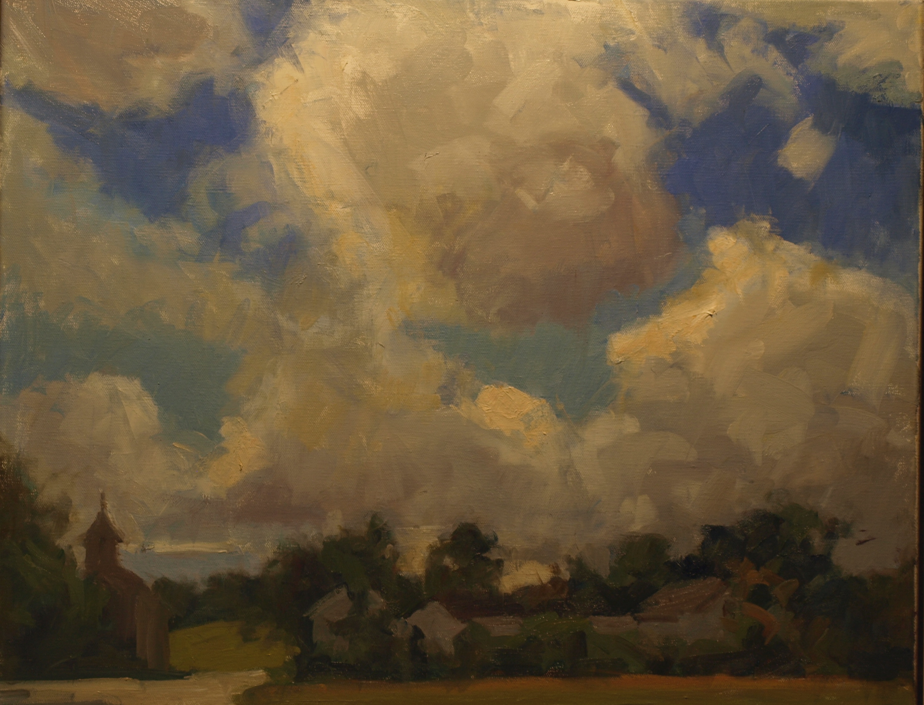 Summer Day, Oil on Canvas, 20 x 24 Inches, by Susan Grisell, $650