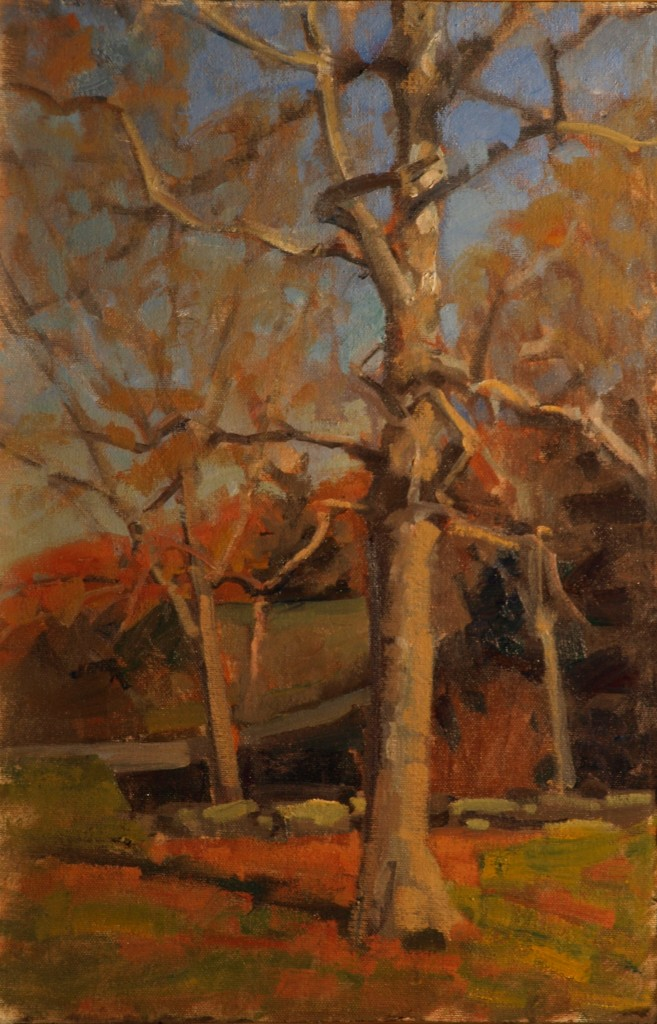 Indian Summer, Oil on Canvas on Panel, 18 x 12 Inches, by Susan Grisell, $275