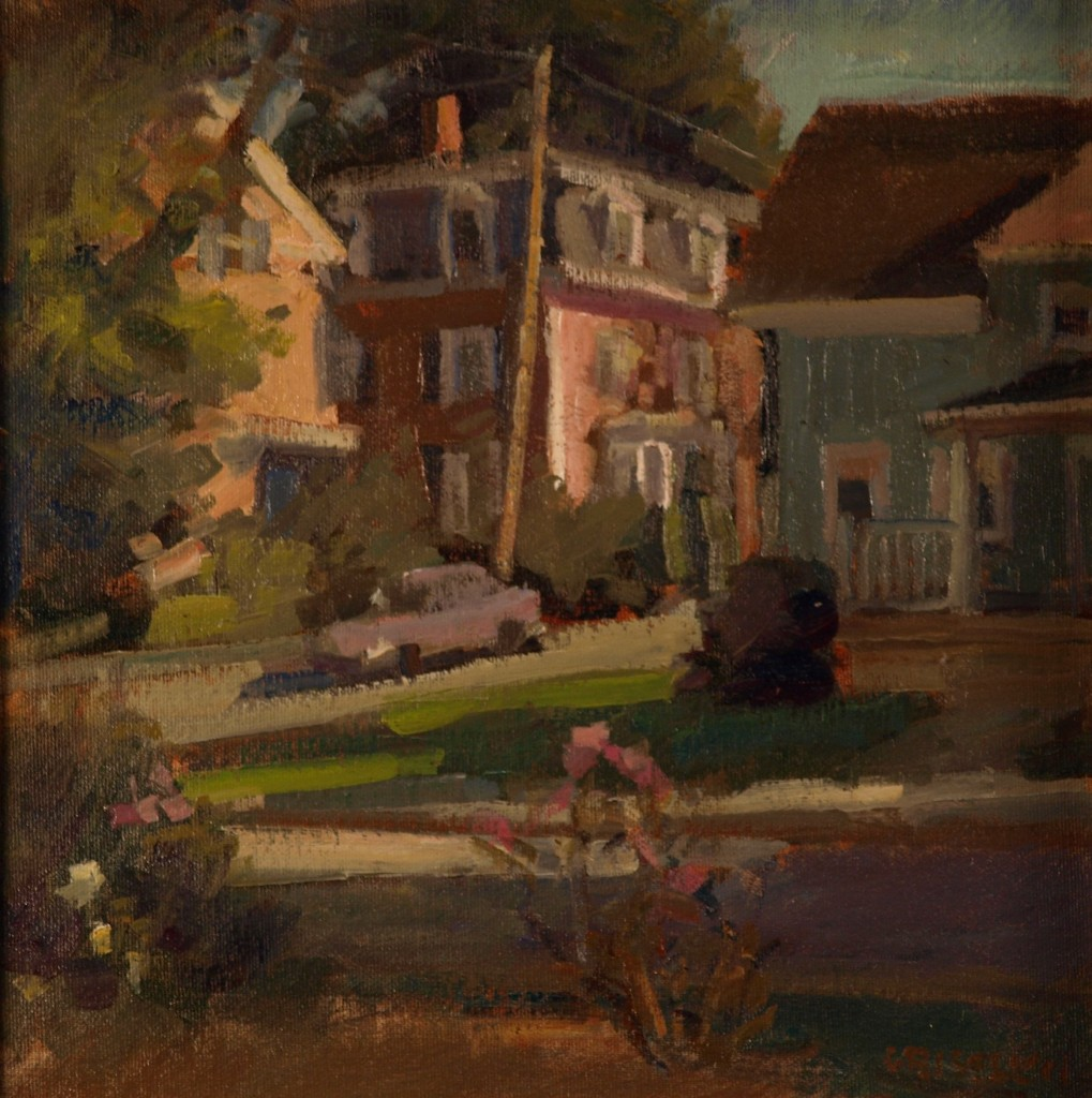 Street - Amesbury, Oil on Canvas on Panel, 12 x 12 Inches, by Susan Grisell, $250