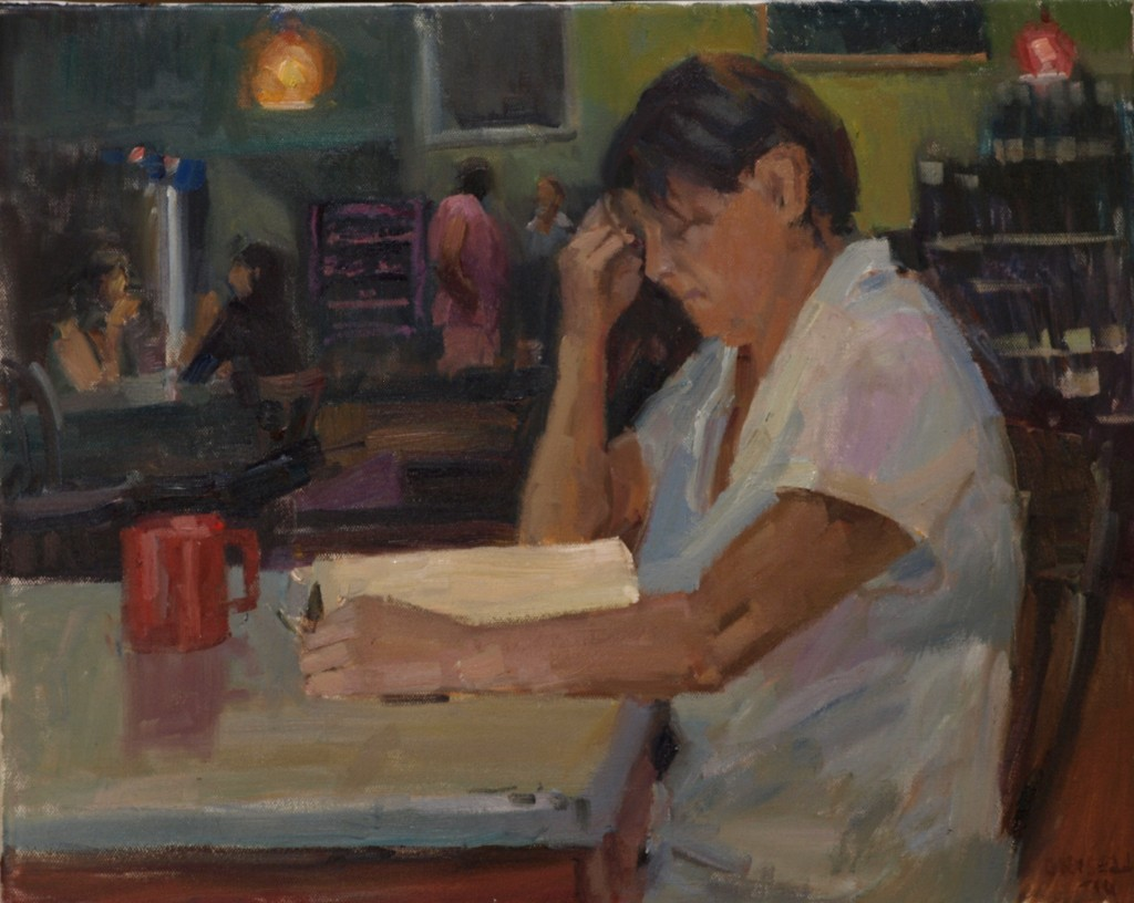 Keri, Oil on Canvas, 16 x 20 Inches, by Susan Grisell, $550