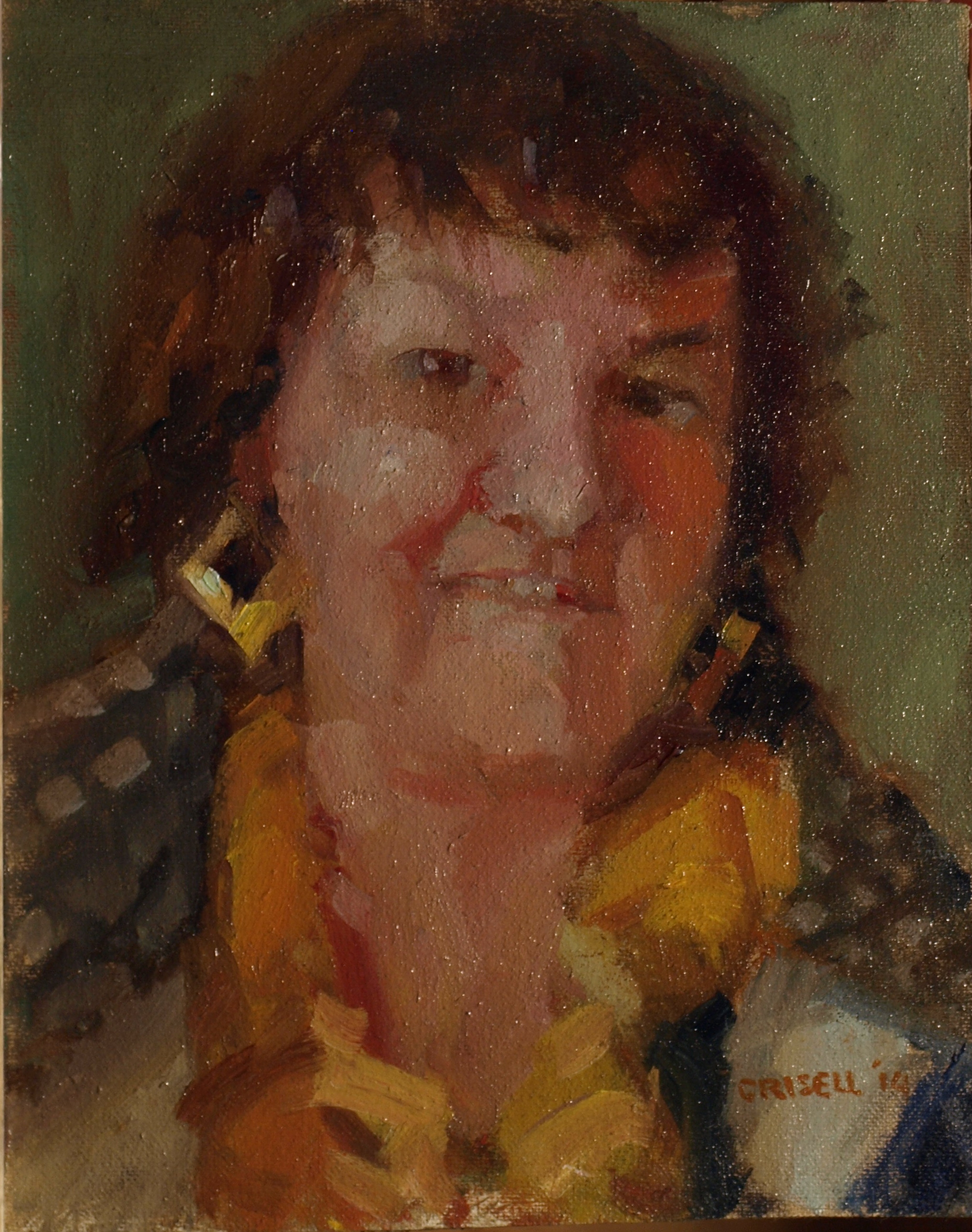 Elizabeth, Oil on Canvas on Panel, 10 x 8 Inches, by Susan Grisell, $200