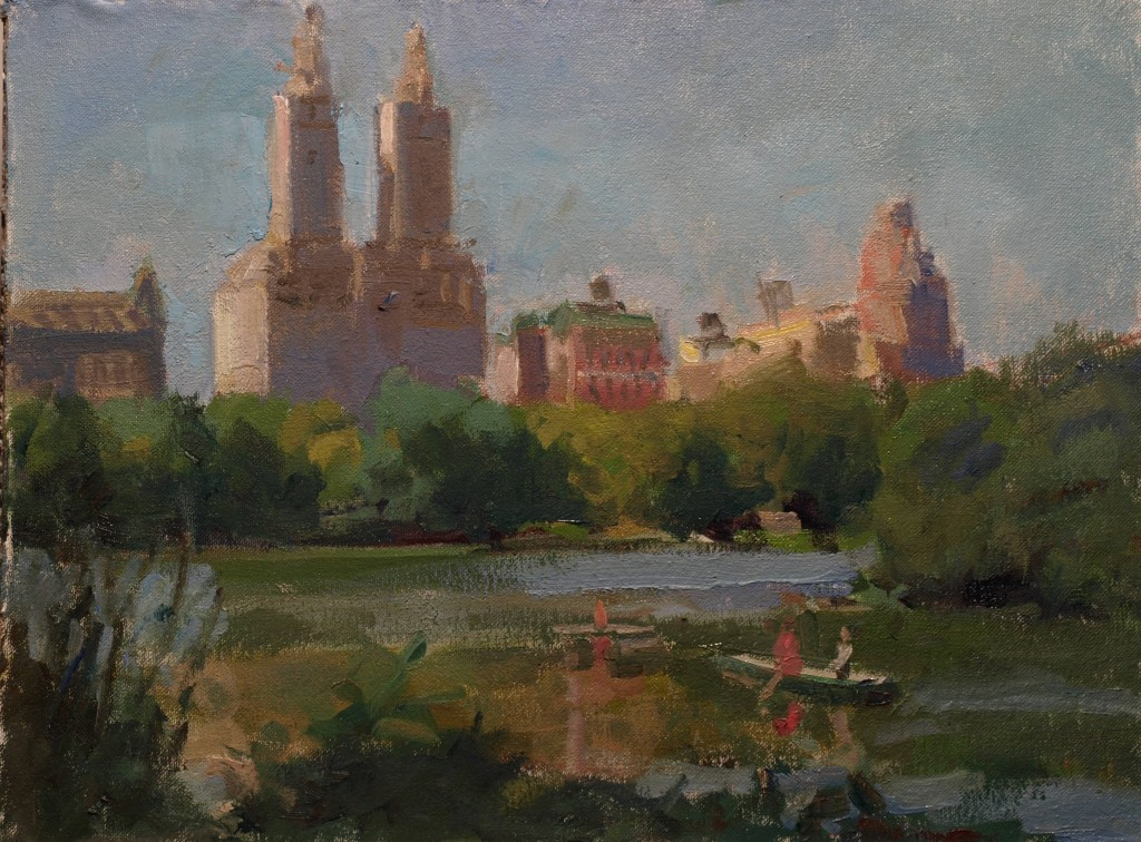 Looking West, Oil on Canvas on Panel, 12 x 16 Inches, by Susan Grisell, $300