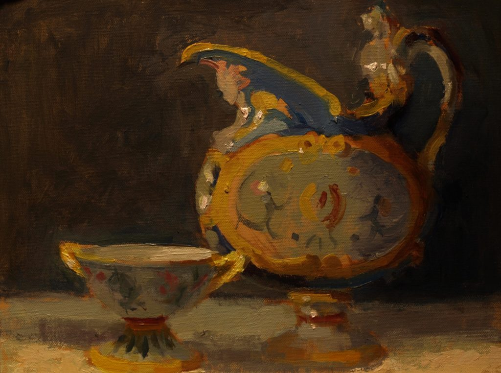 Majolica, Oil on Panel, 11 x 14 Inches, by Susan Grisell, $300