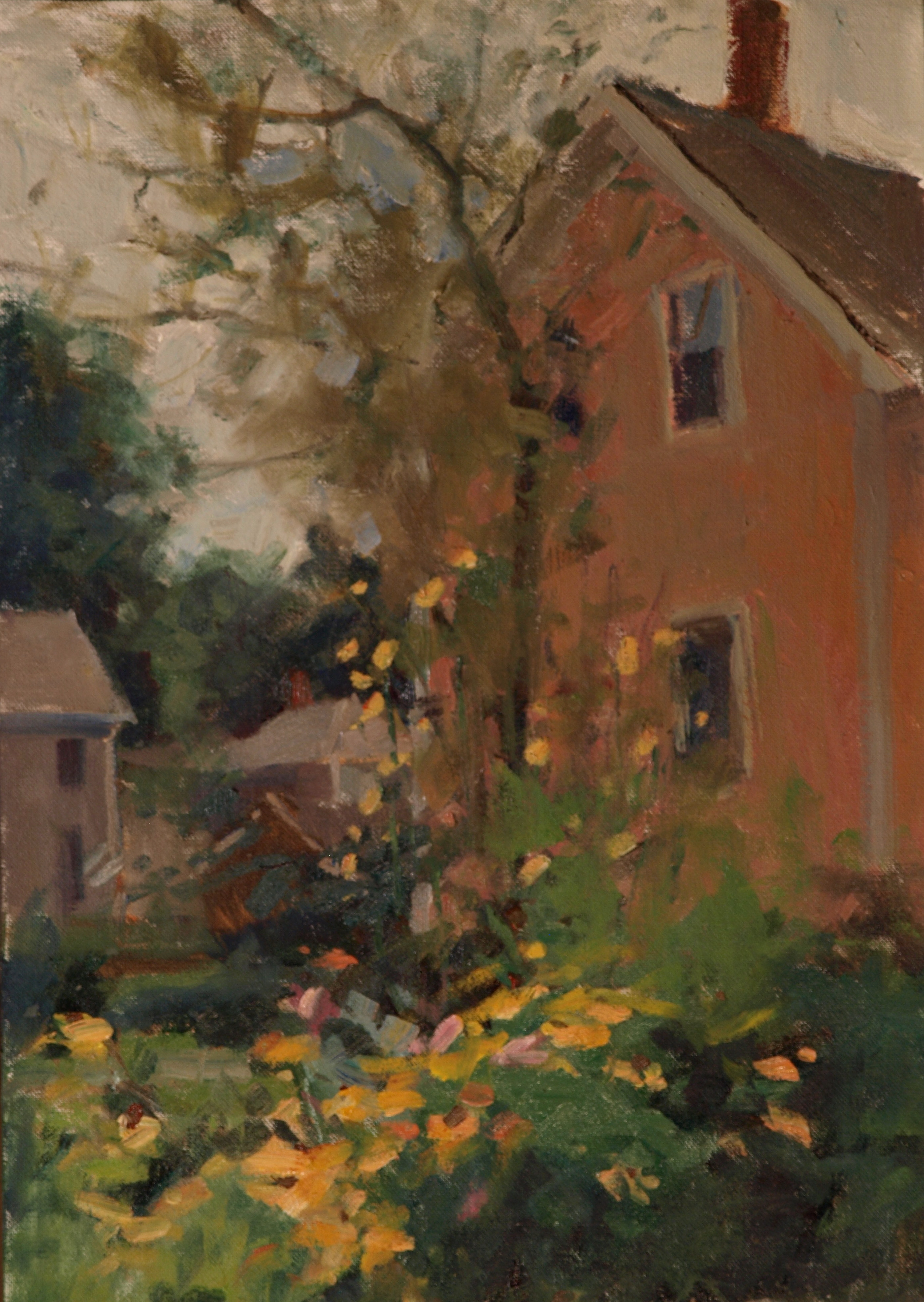 Houses - Amesbury, Oil on Canvas on Panel, 18 x 12 Inches, by Susan Grisell, $325
