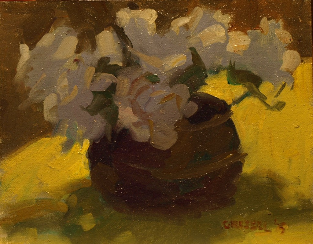 Backlit Still Life, Oil on Canvas on Panel, 8 x 10 Inches, by Susan Grisell, $195