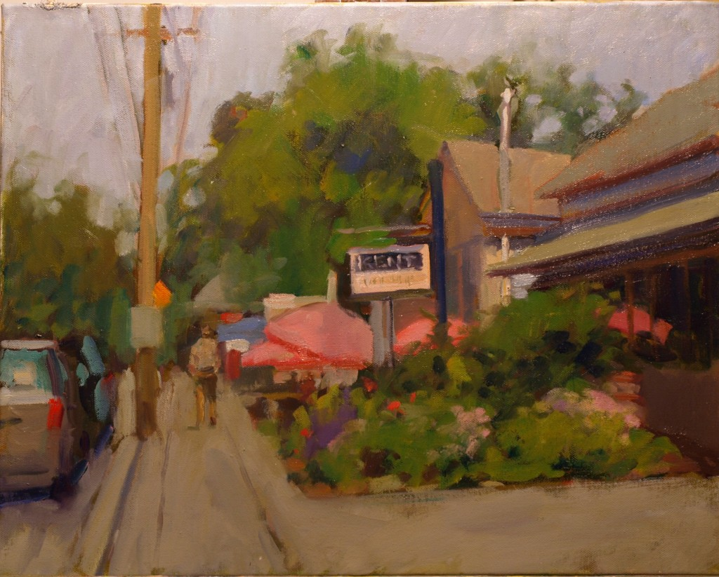 Summer in Kent, Oil on Canvas, 16 x 20 Inches, by Susan Grisell, $500