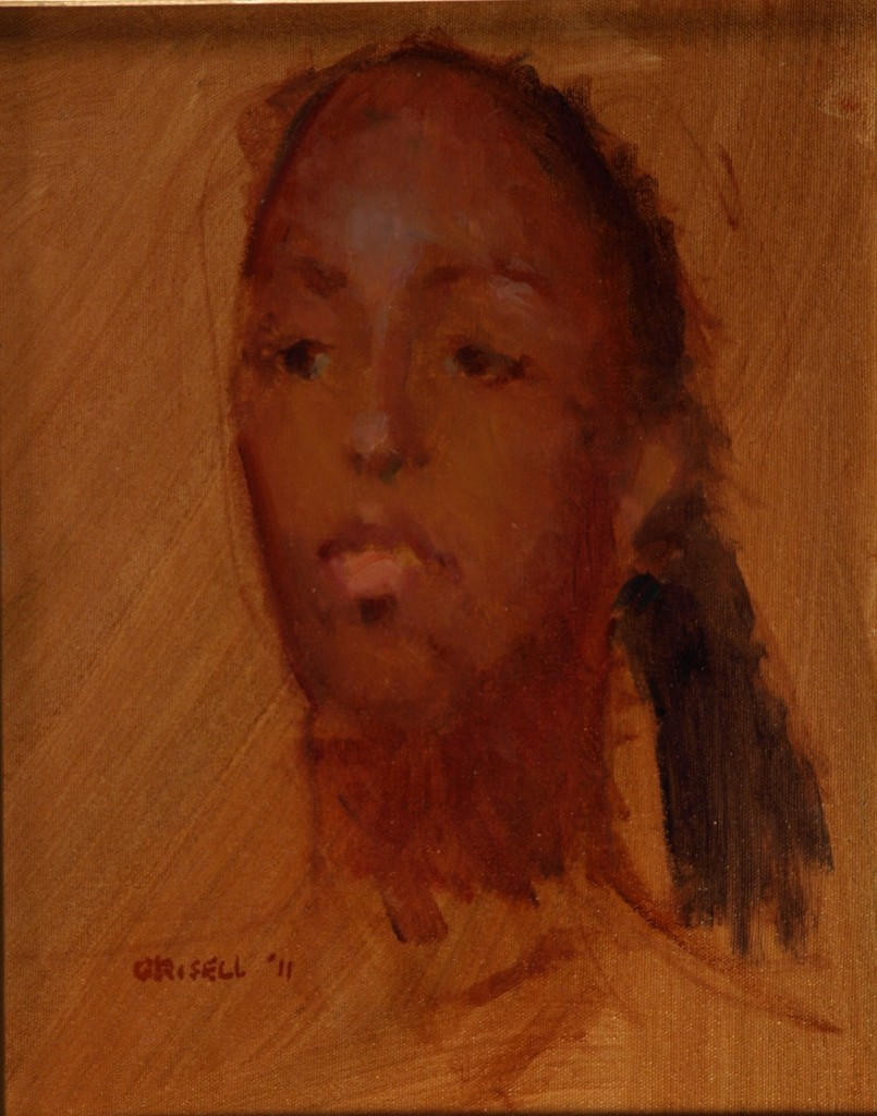 Carla, Oil on Canvas on Panel, 14 x 11 Inches, by Susan Grisell, $200