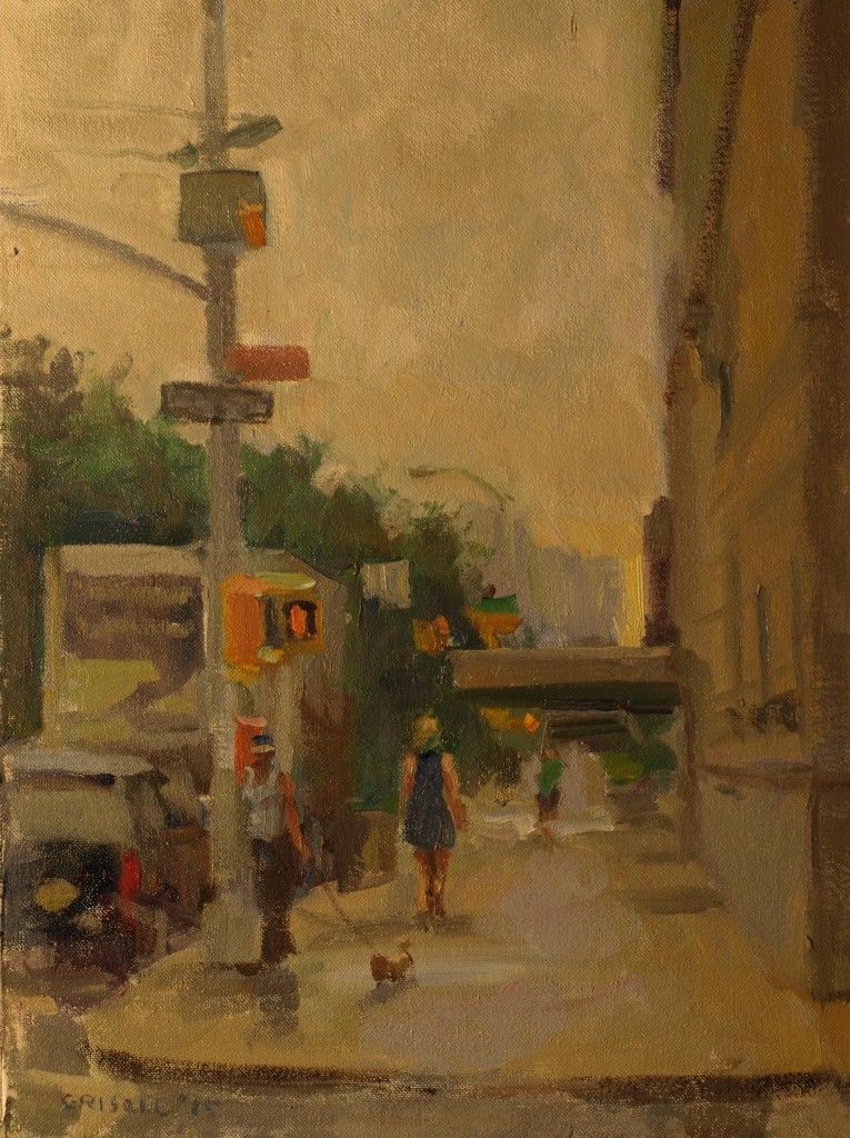 Damp Day, Oil on Canvas on Panel, 16 x 12 Inches, by Susan Grisell, $300