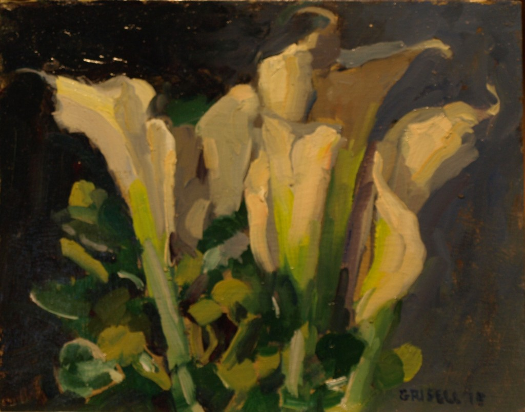 Callas, Oil on Panel, 8 x 10 Inches, by Susan Grisell, $200