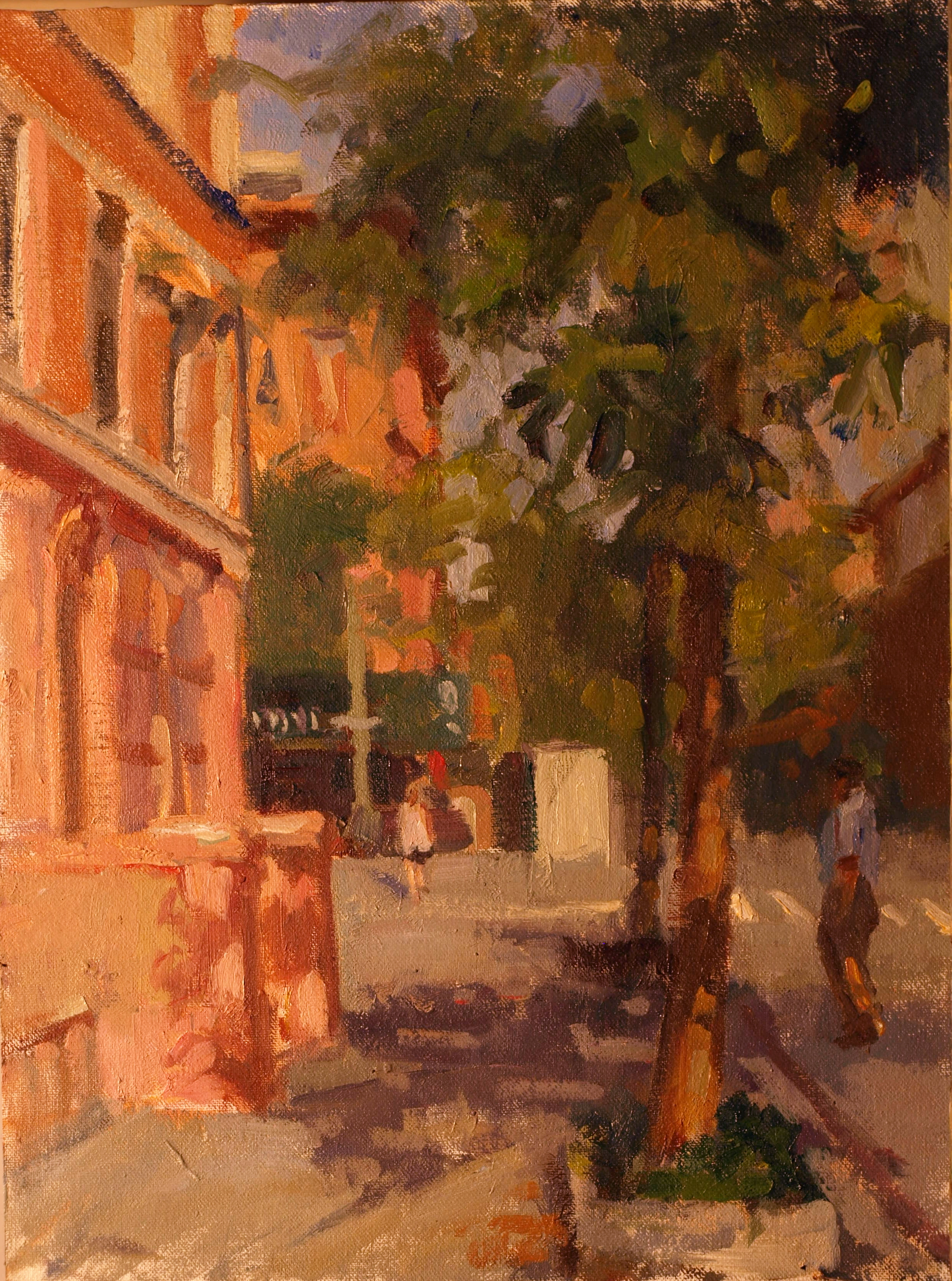 West 87th Street, Oil on Canvas on Panel, 16 x 12 Inches, by Susan Grisell, $300
