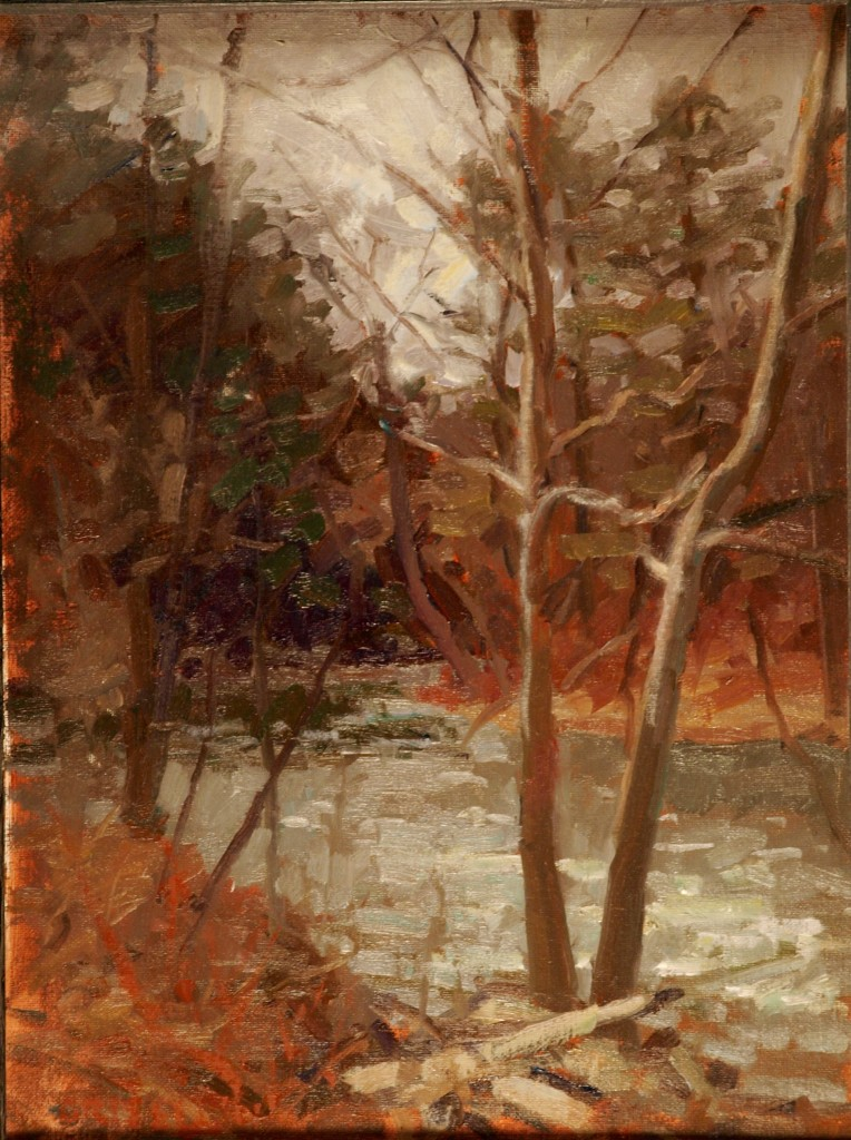 Housatonic - West Cornwall, Oil on Canvas on Panel, 16 x 12 Inches, by Susan Grisell, $275