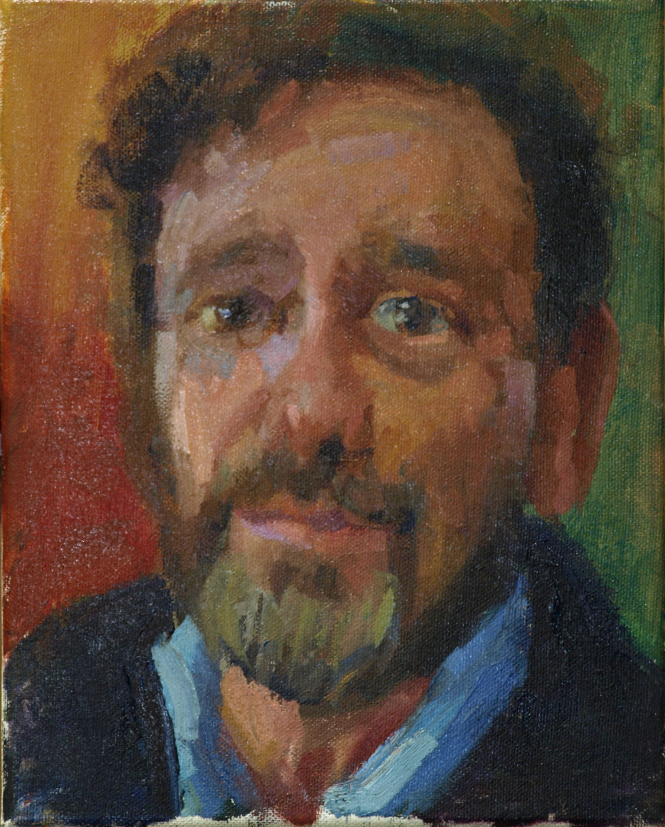 Neil, Oil on Canvas, 10 x 8 Inches, by Susan Grisell, $150