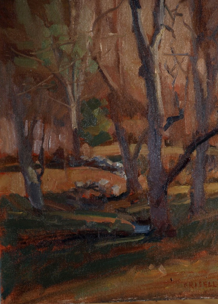 November Afternoon, Oil on Canvas on Panel, 16 x 12 Inches, by Susan Grisell, $275