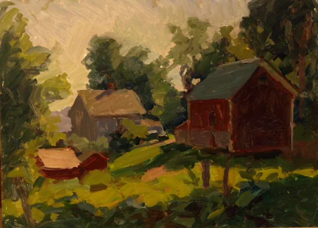 Hipp Farm, Oil on Panel, 12 x 16 Inches, by Susan Grisell, $325