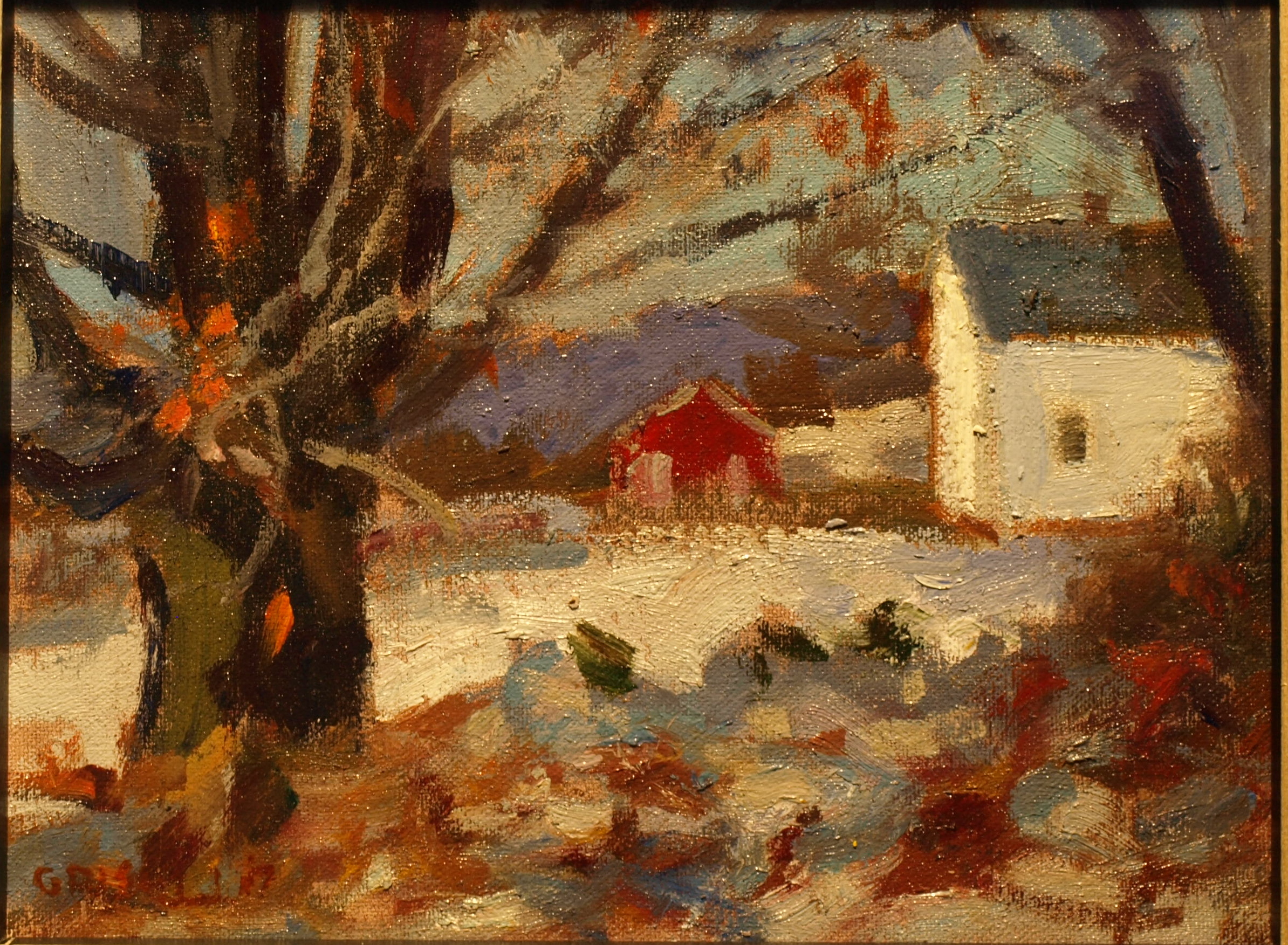 Bill Newton Farm, Oil on Canvas on Panel, 8 x 10 Inches, by Susan Grisell, $200