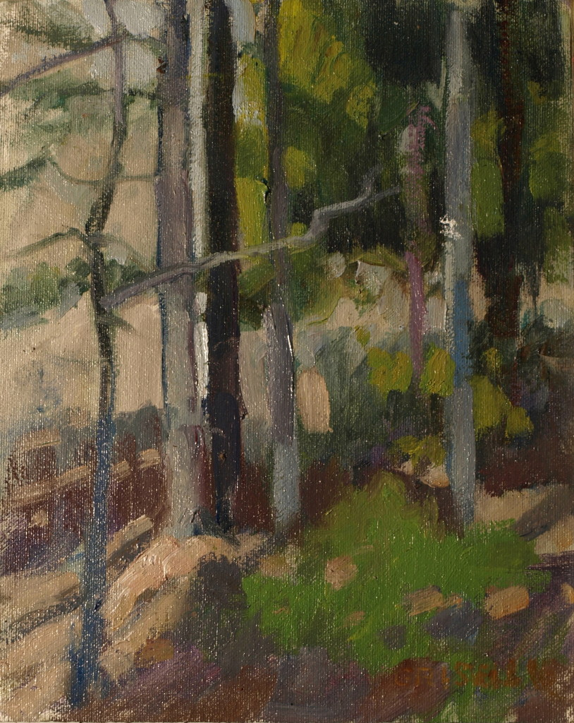Tree Study, Oil on Canvas on Panel, 10 x 8 Inches, by Susan Grisell, $150
