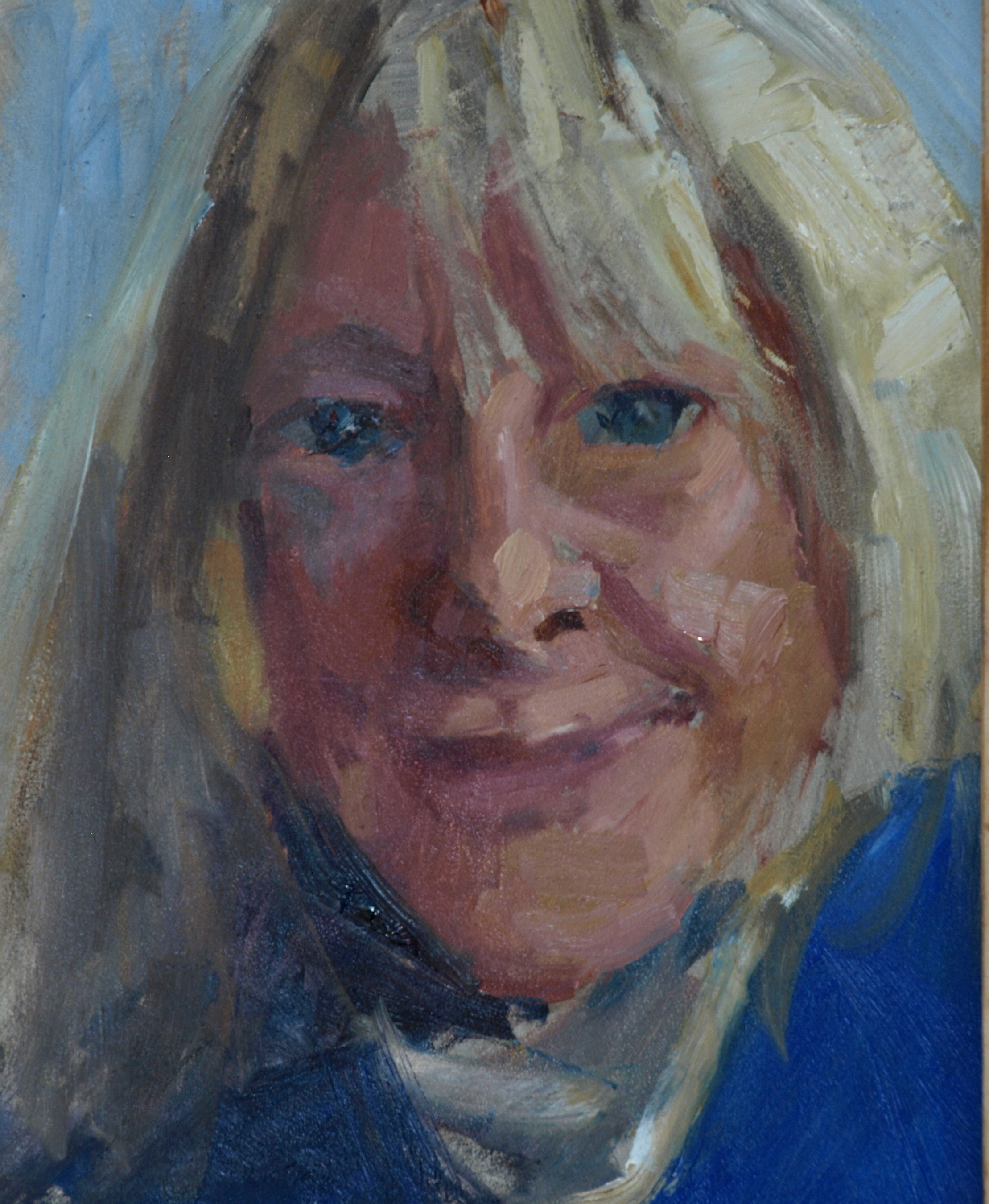 Chris, Oil on Panel, 10 x 8 Inches, by Susan Grisell, $150