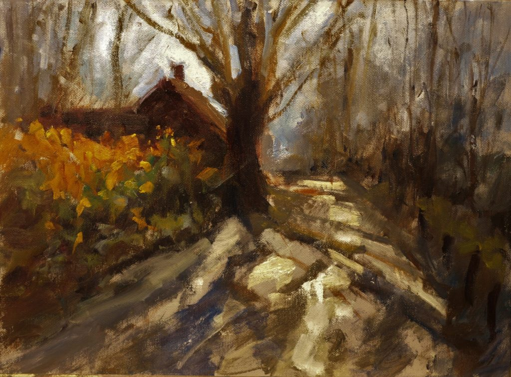 Brown's Forge, Oil on Panel, 12 x 16 Inches, by Susan Grisell, $325