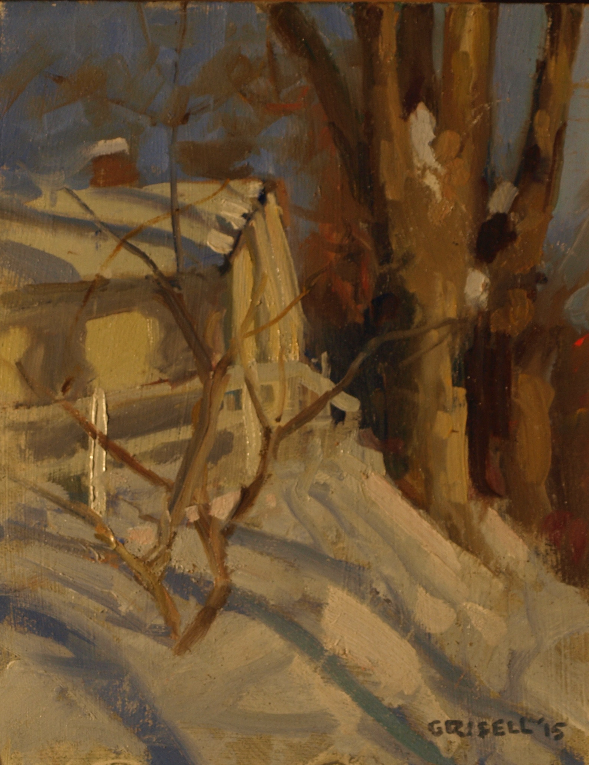 Shadows, Oil on Panel, 10 x 8 Inches, by Susan Grisell, $200