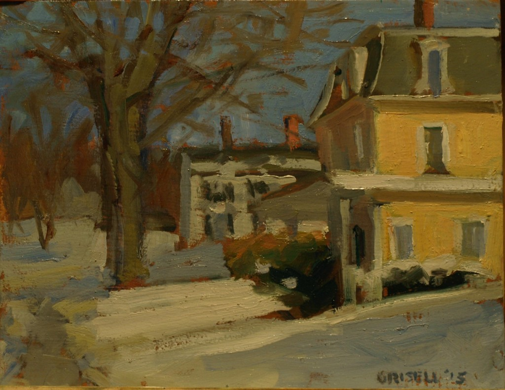 Along Main Street, Oil on Panel, 8 x 10 Inches, by Susan Grisell, $210