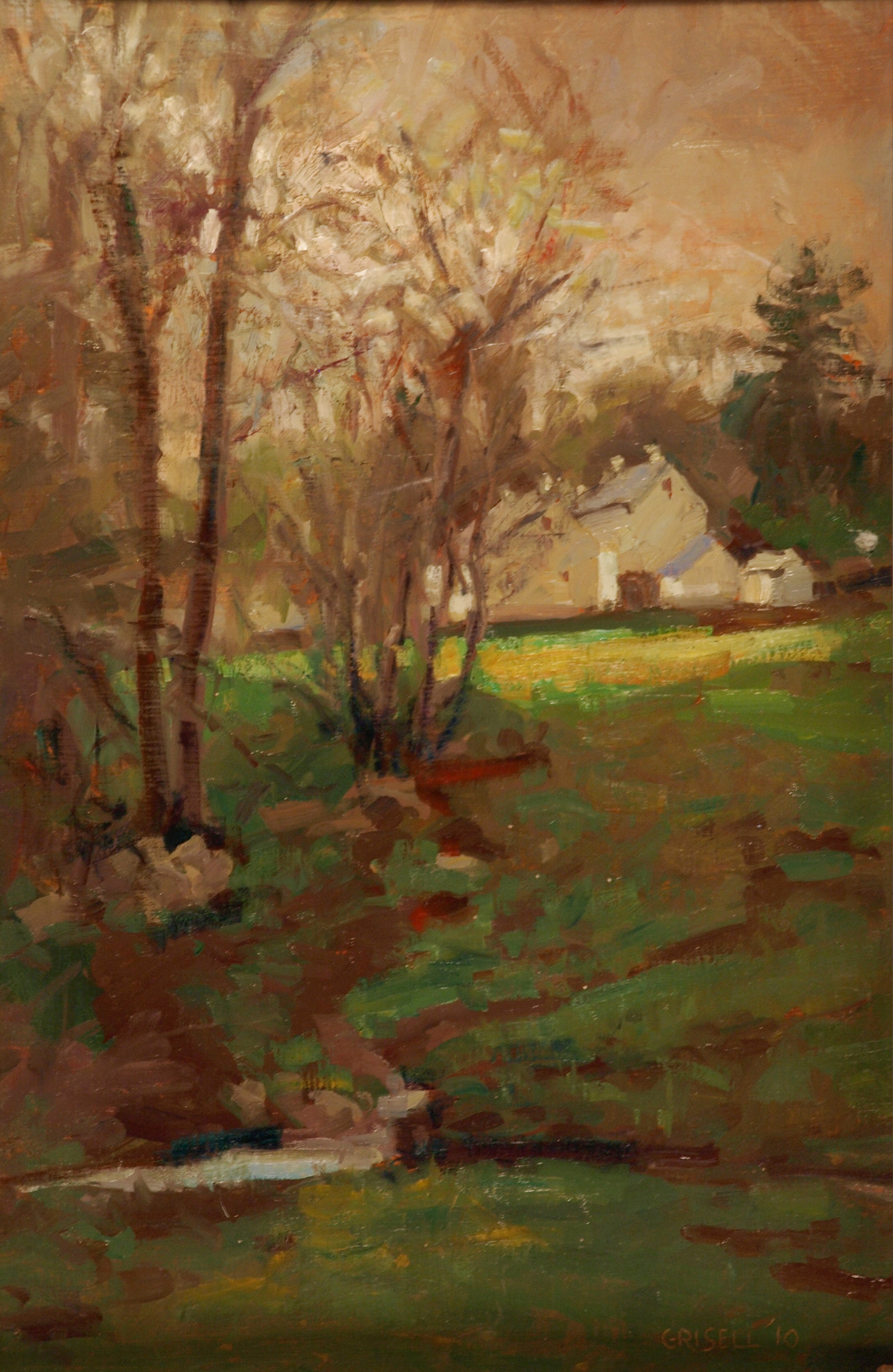 "Cold Day in May, Oil on Canvas on Panel"", 18 x 12 Inches, by Susan Grisell, $275"