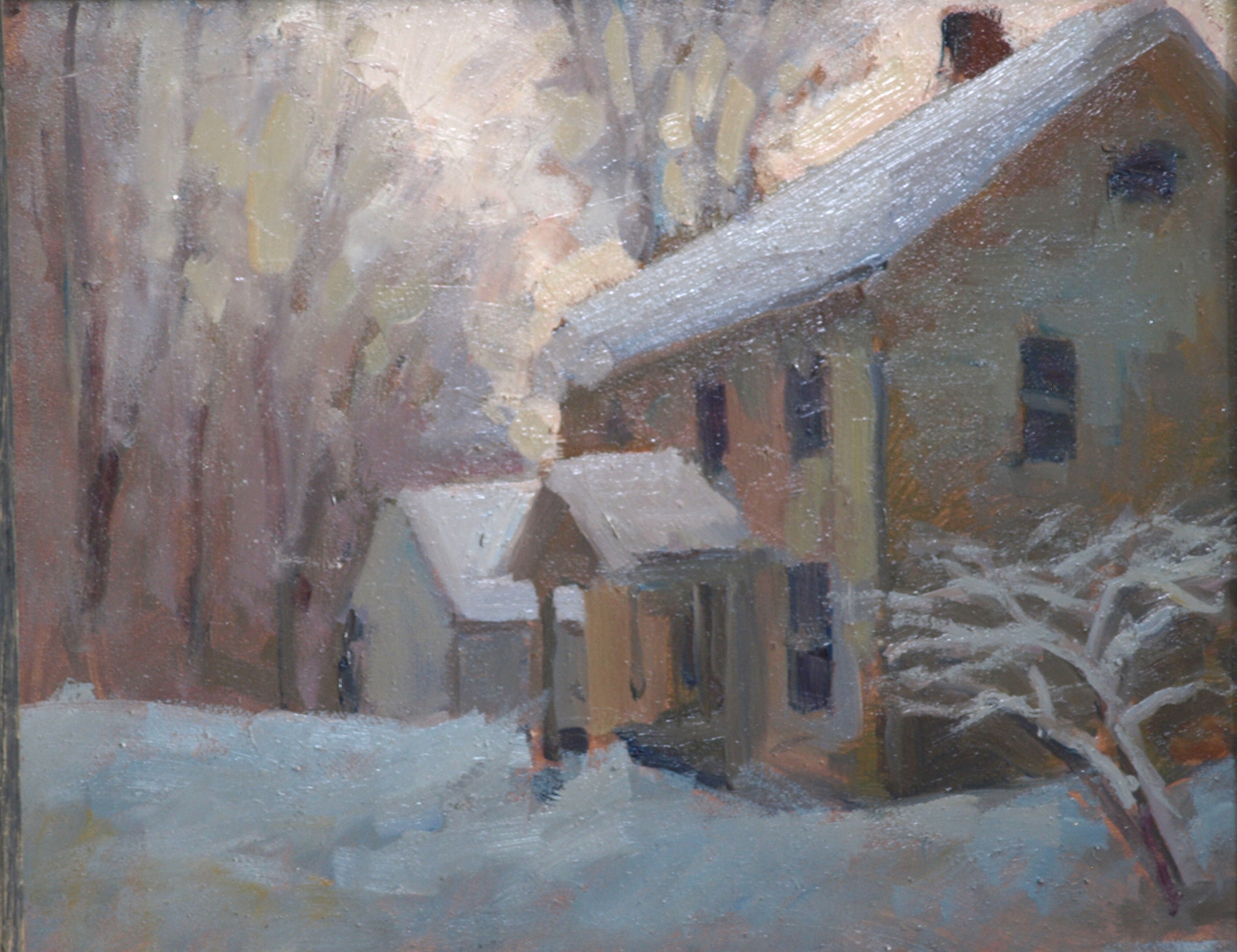 End of the Storm, Oil on Panel, 8 x 10 Inches, by Susan Grisell, $150
