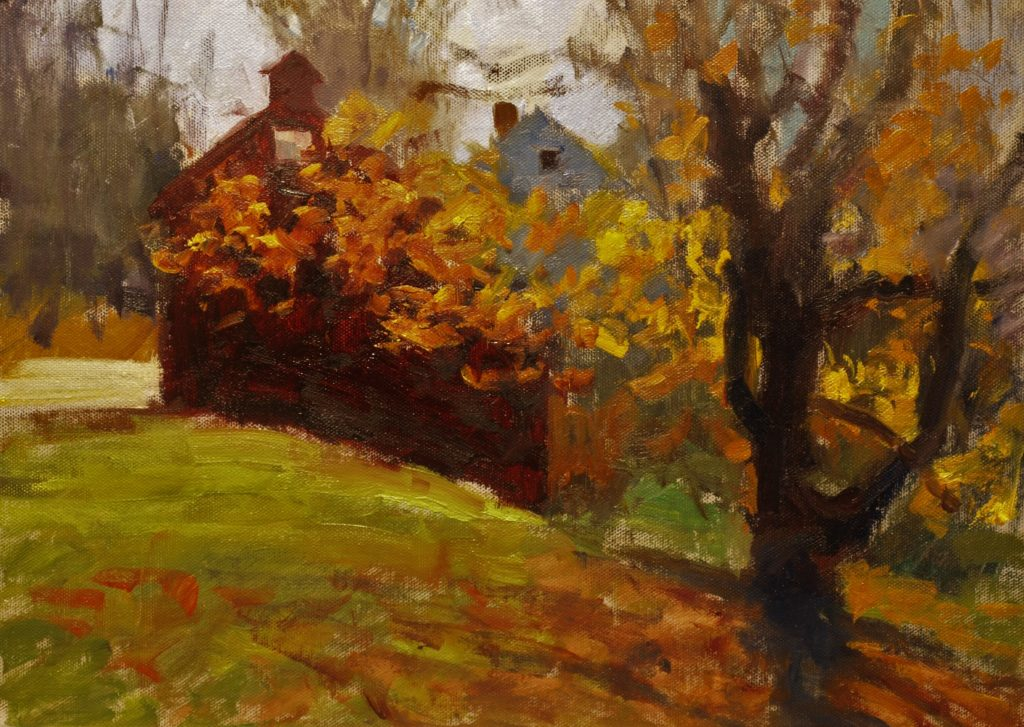 Looking South, Oil on Panel, 12 x 16 Inches, by Susan Grisell, $325