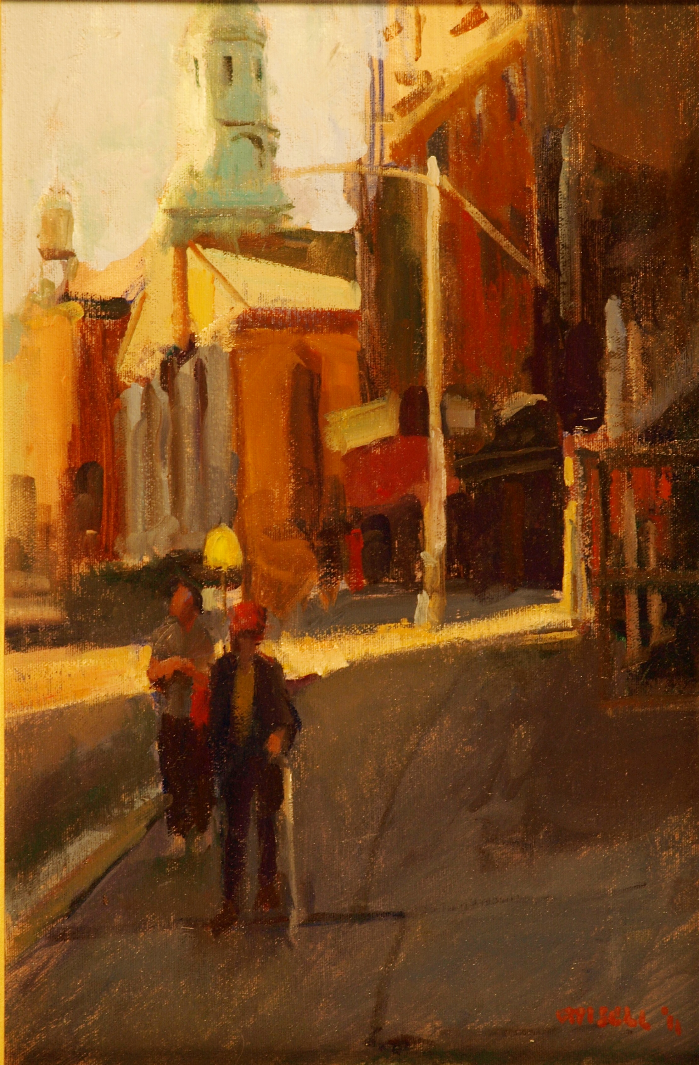 Lower Mott Street, Oil on Canvas on Panel, 18 x 12 Inches, by Susan Grisell, $275