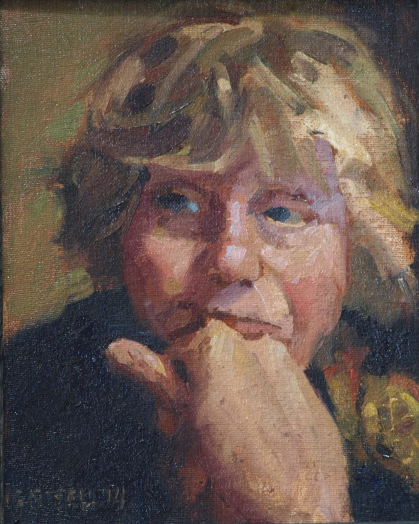 Margery, Oil on Canvas on Panel, 10 x 8 Inches, by Susan Grisell, $150