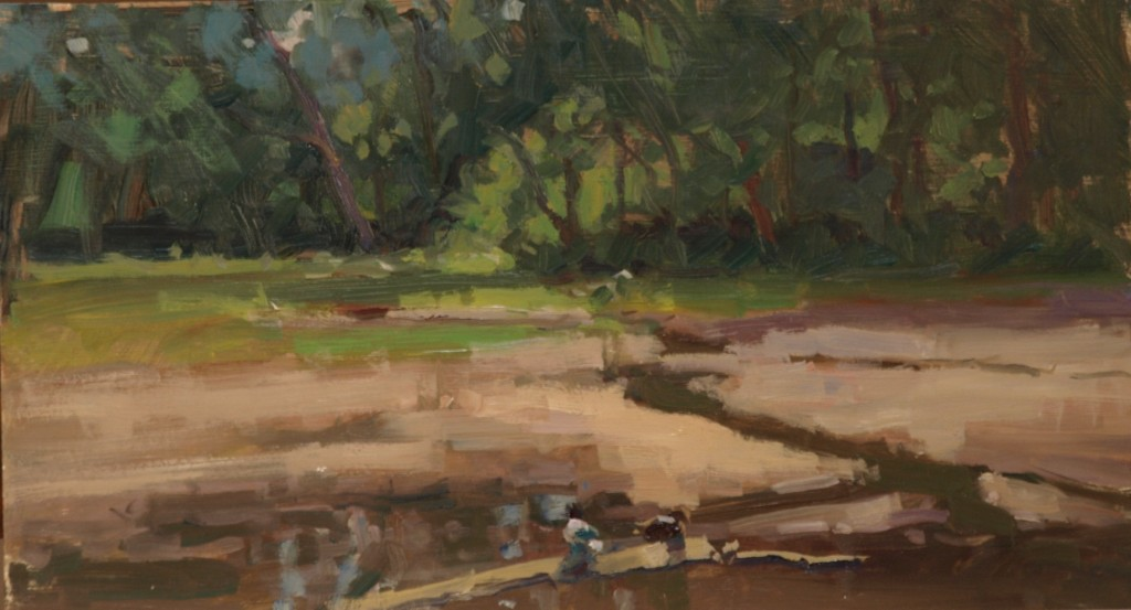 Housatonic Inlet, Oil on Panel, 9 x 16 Inches, by Susan Grisell, $300