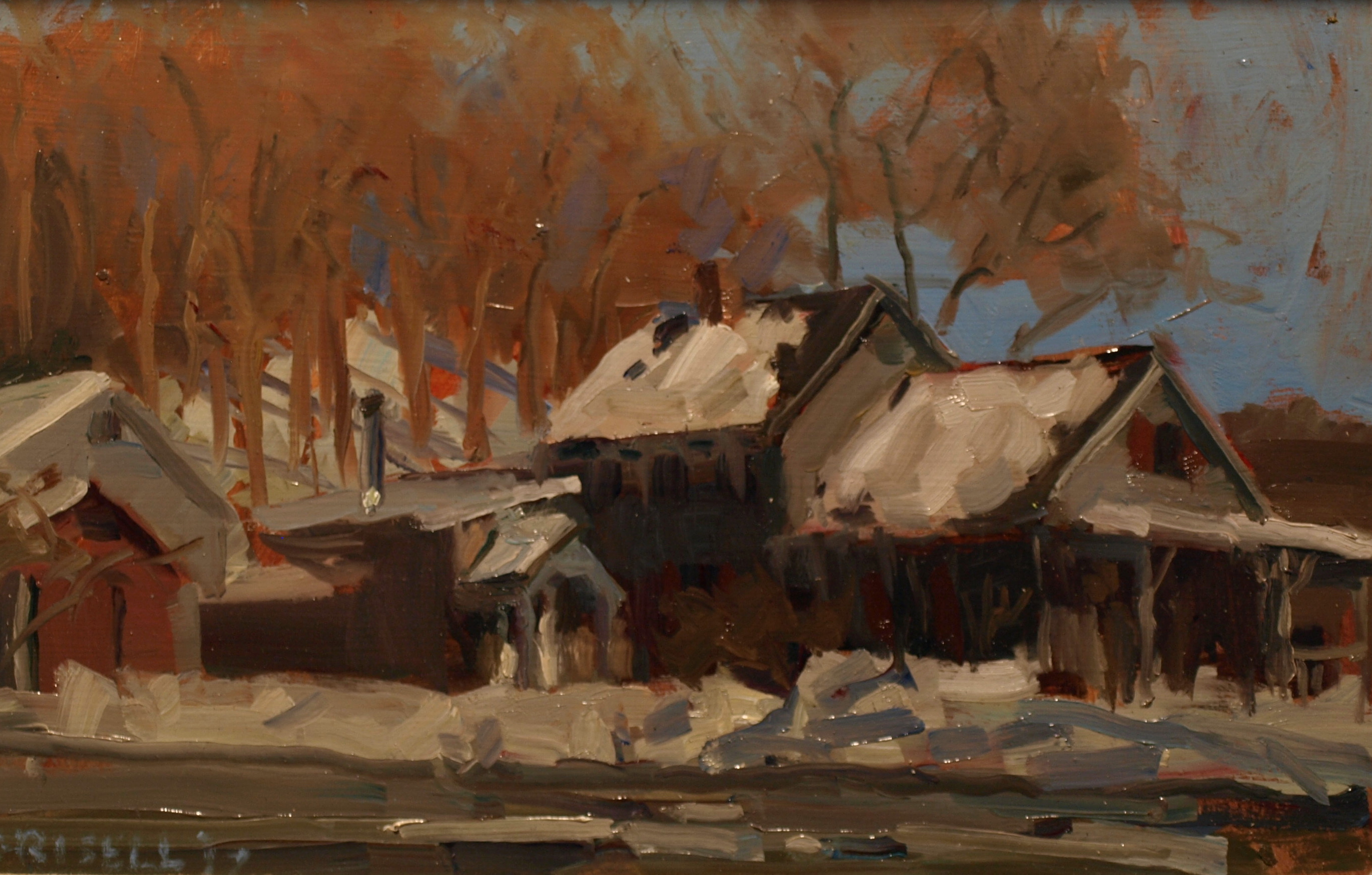 Study for Laurie's Place, Oil on Panel, 8 x 12 Inches, by Susan Grisell, $200