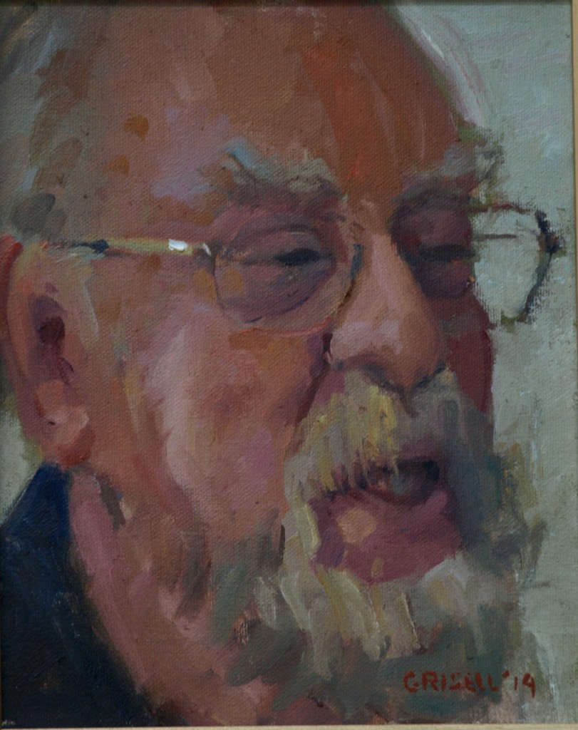 Fred, Oil on Canvas, 10 x 8 Inches, by Susan Grisell, $150