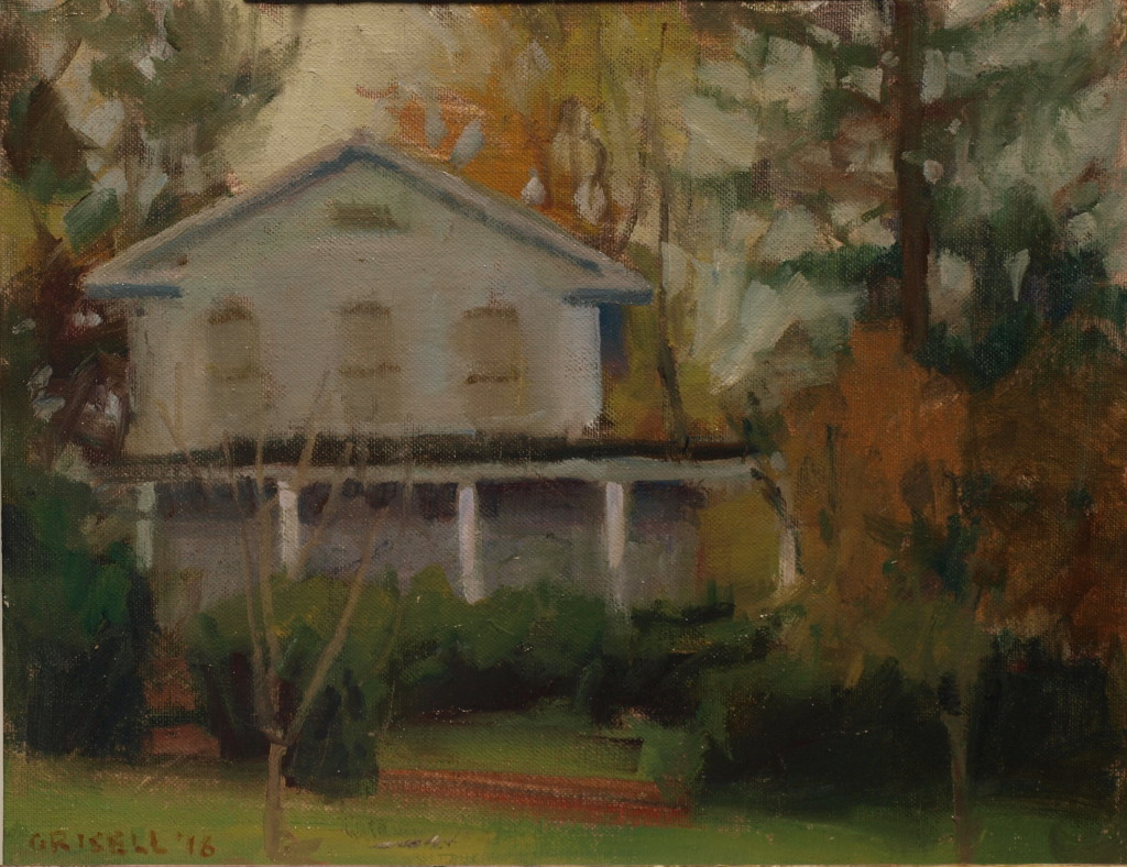 House on Main Street, Oil on Canvas on Panel, 11 x 14 Inches, by Susan Grisell, $275