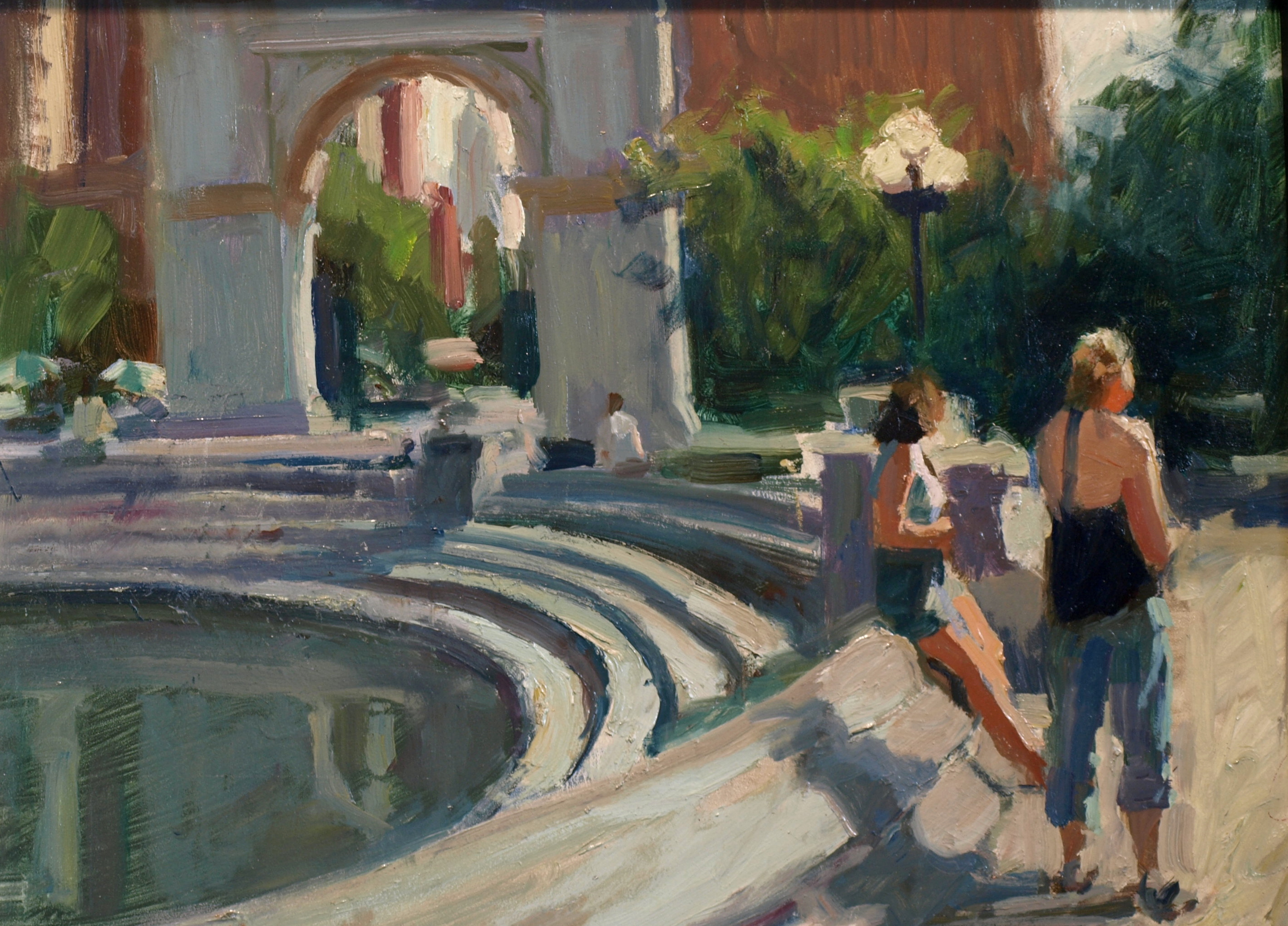 Near the Arch, Oil on Canvas on Panel, 12 x 16 Inches, by Susan Grisell, $300