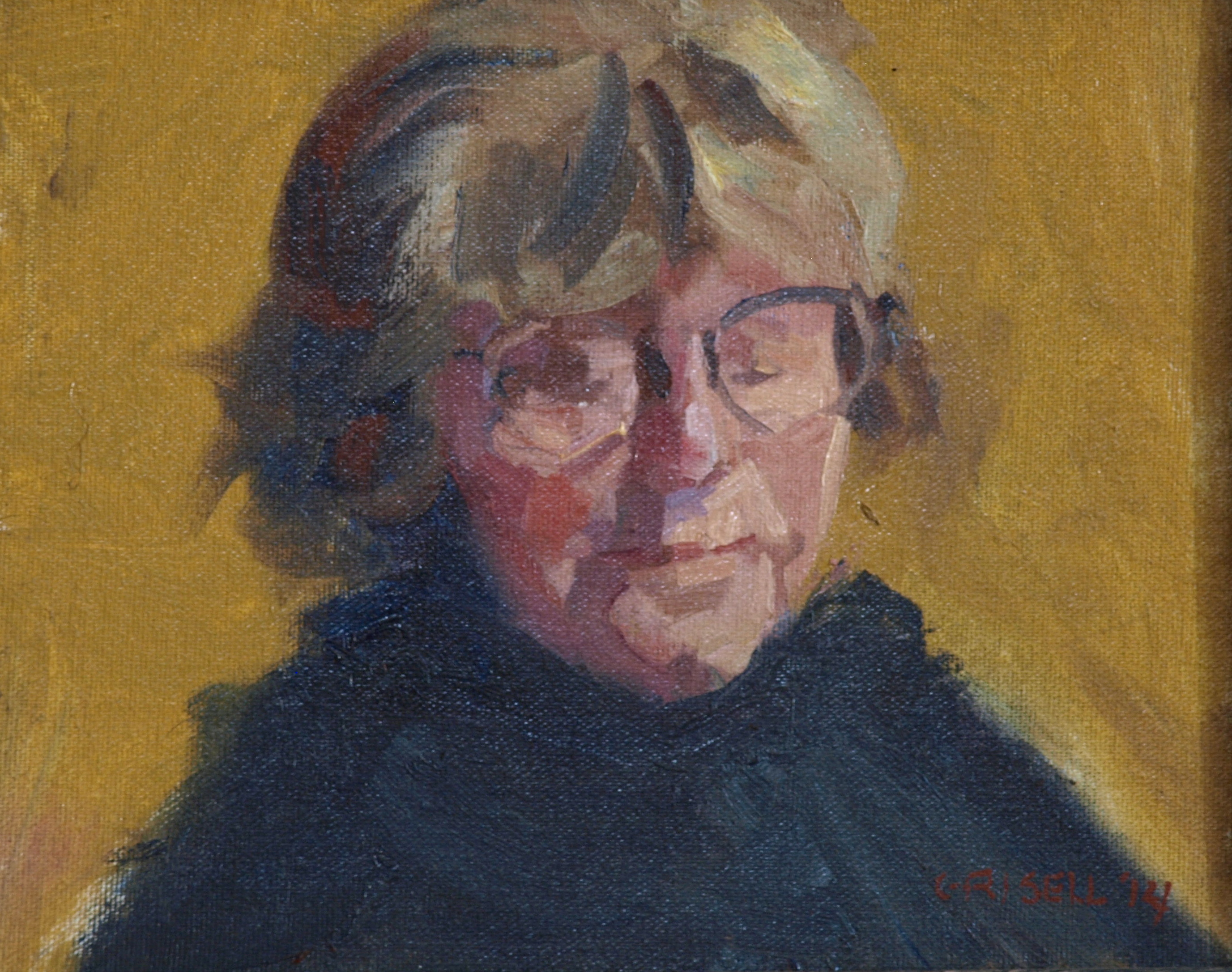 Head Study, Oil on Canvas on Panel, 8 x 10 Inches, by Susan Grisell, $150