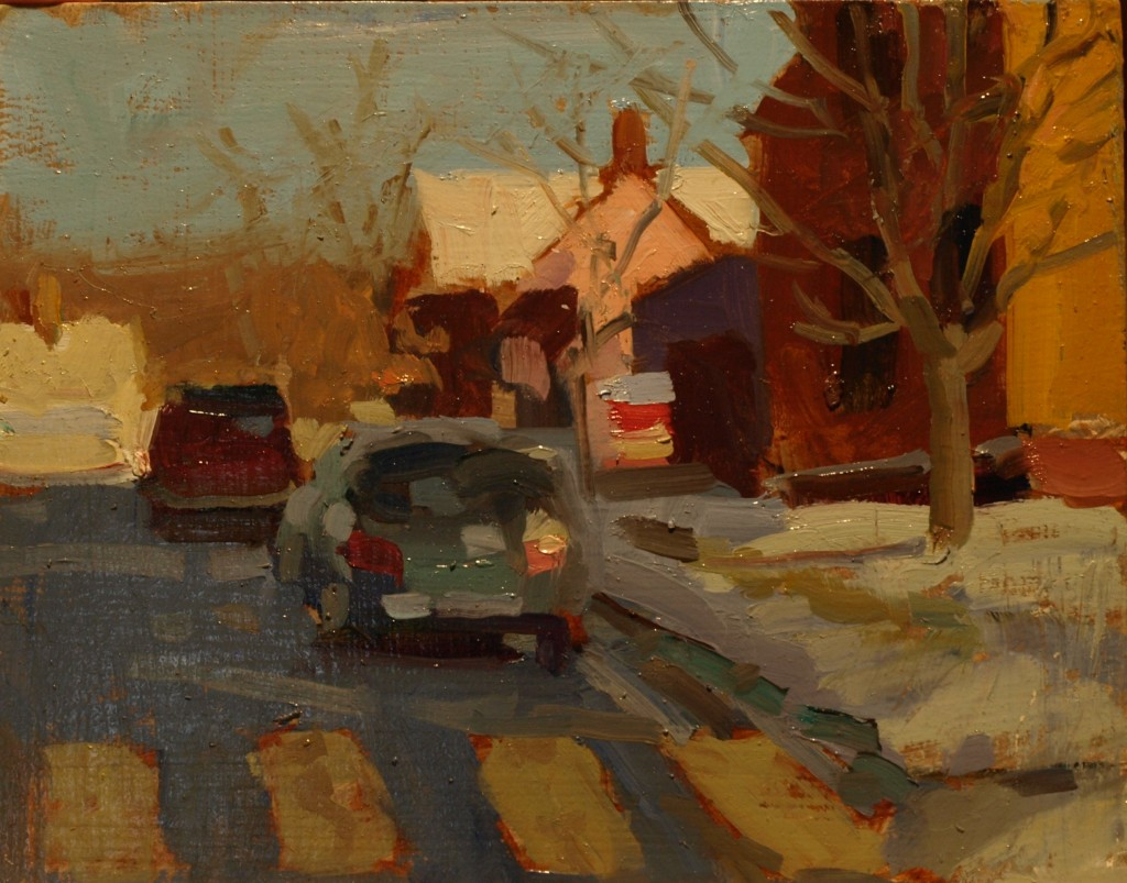 Whittlesey Avenue, Oil on Panel, 8 x 10 Inches, by Susan Grisell, $200