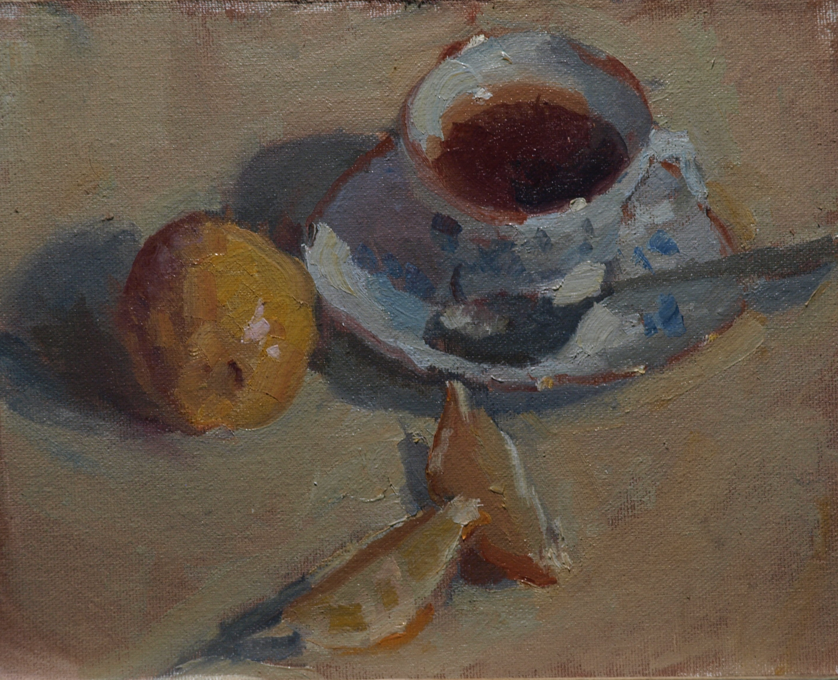 Earl Grey, Oil on Canvas on Panel, 8 x 10 Inches, by Susan Grisell, $150