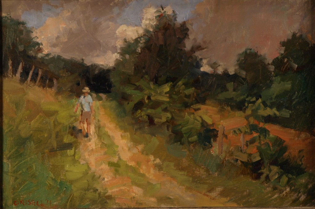 Path in Summer, Oil on Canvas on Panel, 12 x 18 Inches, by Susan Grisell,$275