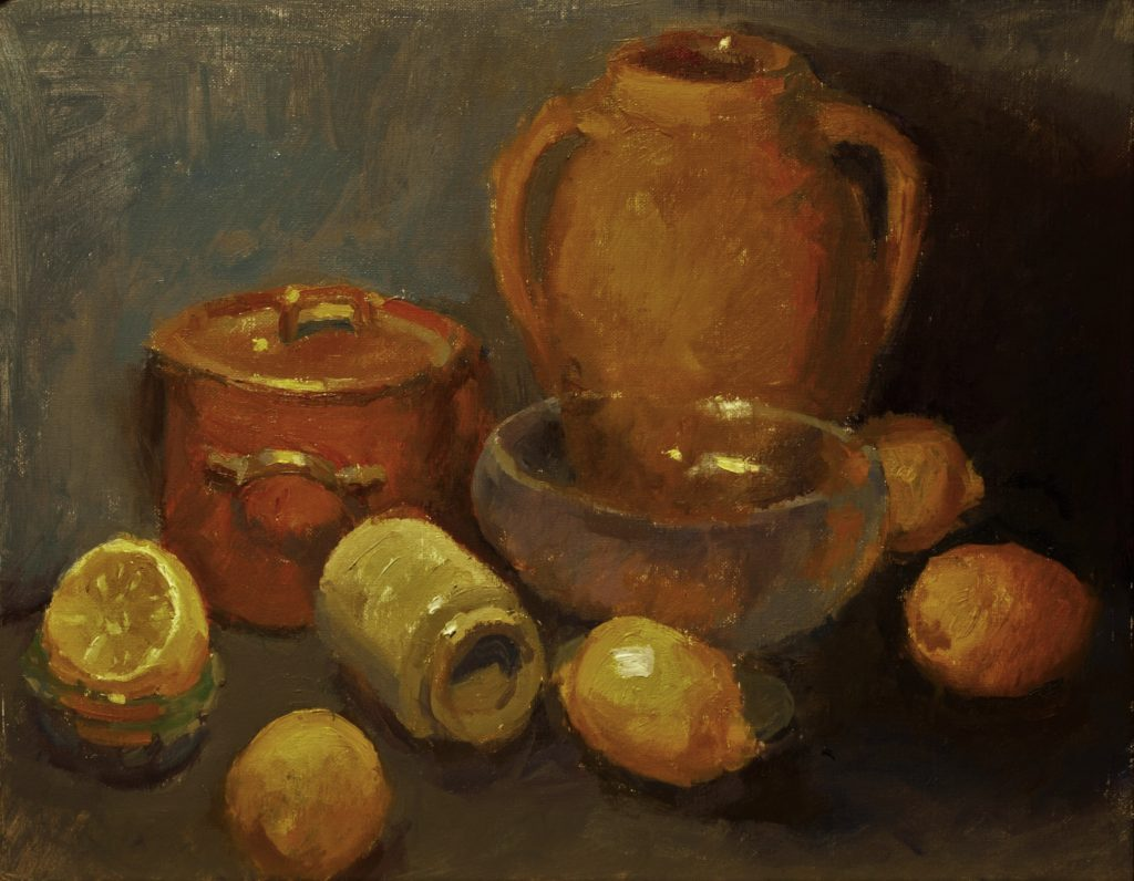 Shapes and Textures, Oil on Panel, 16 x 20 Inches, by Susan Grisell, $600