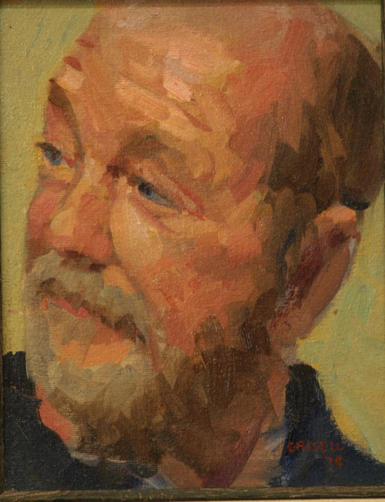 Tim, Oil on Canvas on Panel, 10 x 8 Inches, by Susan Grisell, $150