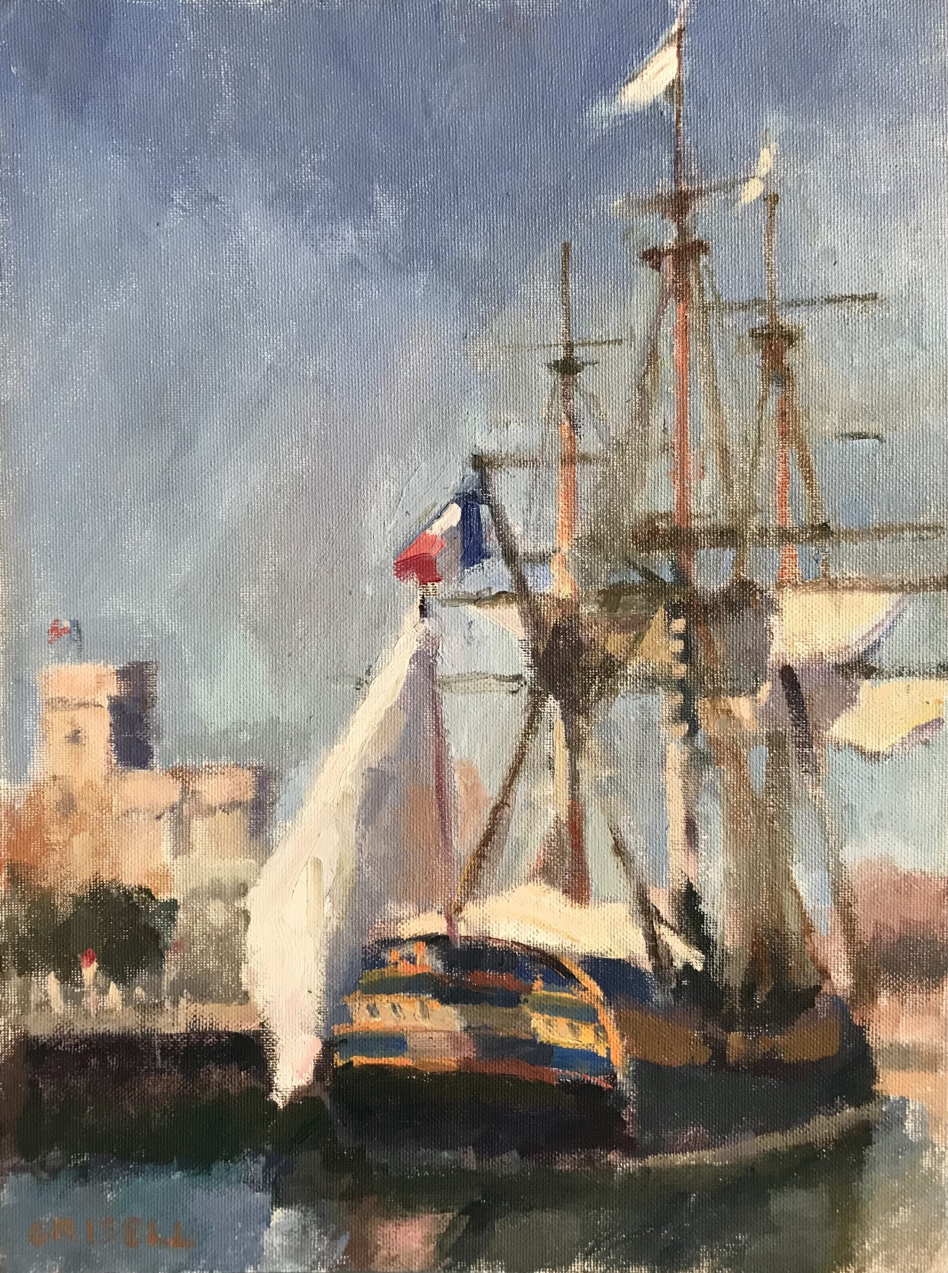 """""""The Hermione"""", Oil on Canvas on Panel, 16 x 12 Inches by Susan Grisell $300"""