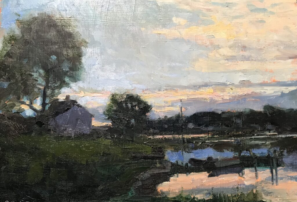 """""""Day's End"""", Oil on Canvas, 12 x 16 Inches, by Susan Grisell $325"""