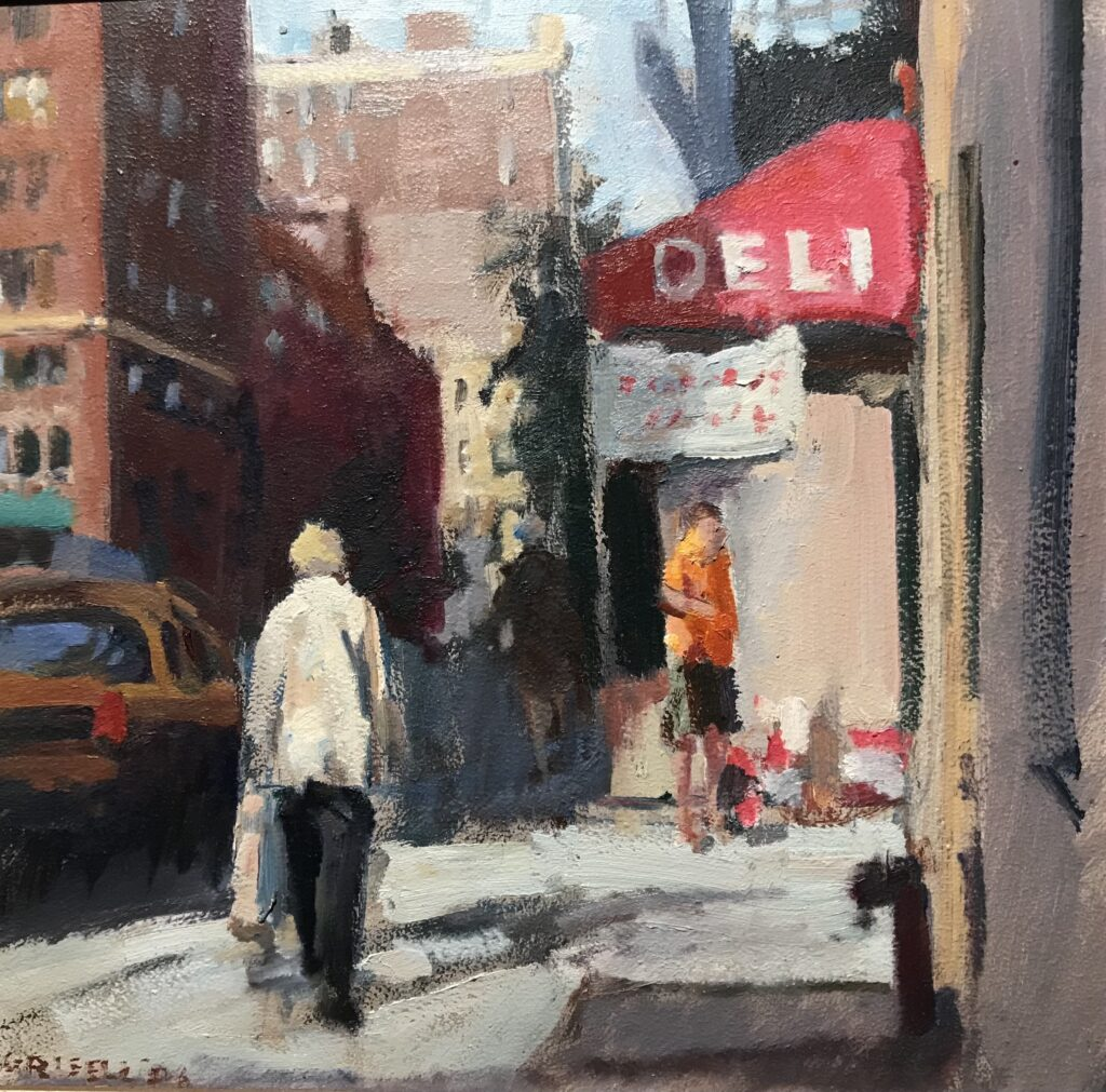 """""""Deli"""", Oil on Canvas on Panel, 12 x 12 Inches by Susan Grisell $275"""