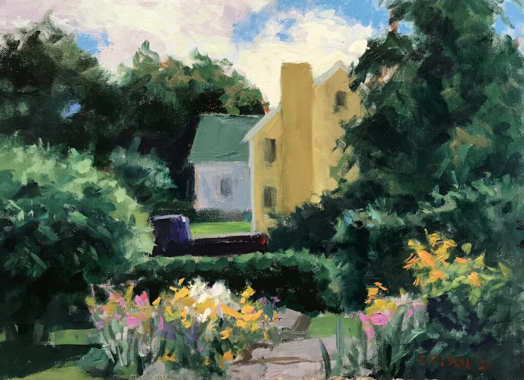 """""""View From the Porch"""", Oil on Canvas on Panel, 12 x 16 Inches, by Susan Grisell $325"""