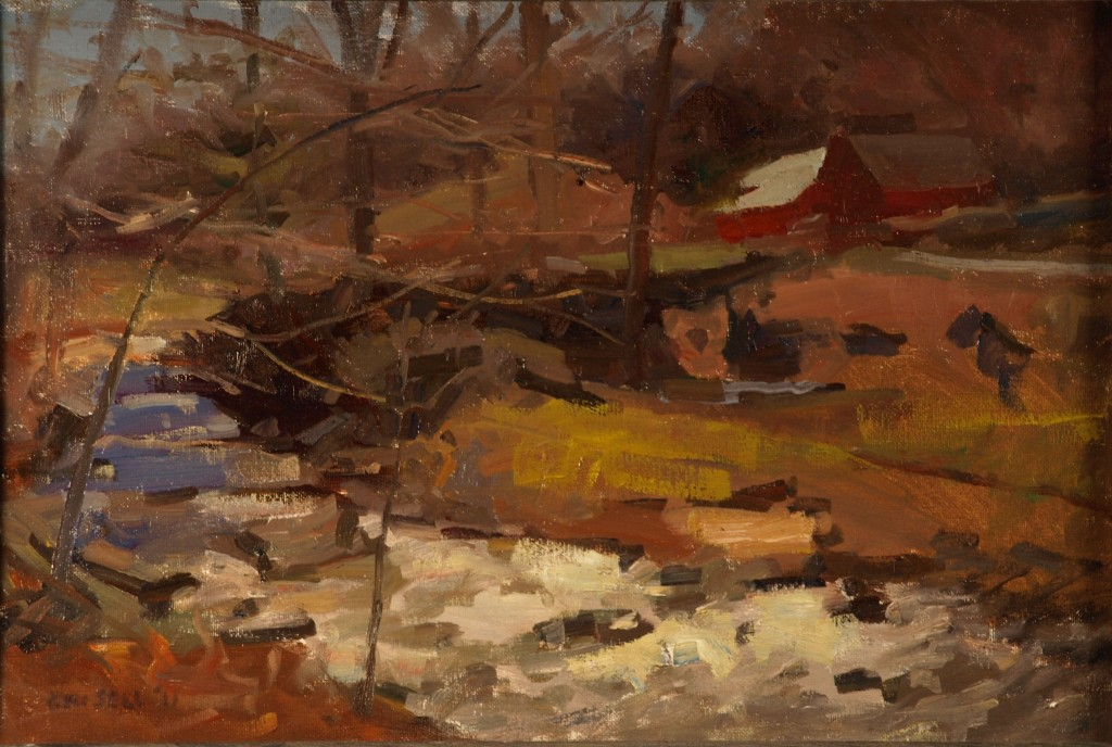 Brook at McGoldrick's, Oil on Canvas on Panel, 12 x 18 Inches, by Susan Grisell, $275