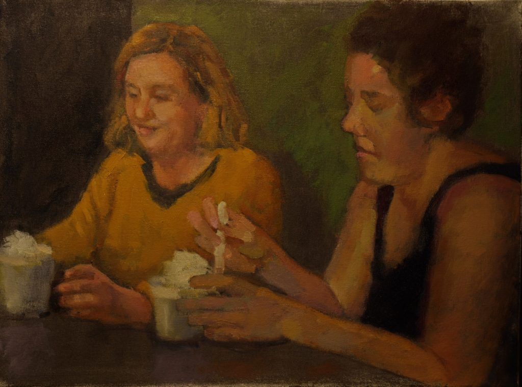 Ice Cream, Oil on Canvas, 18 x 24 Inches, by Susan Grisell, $800
